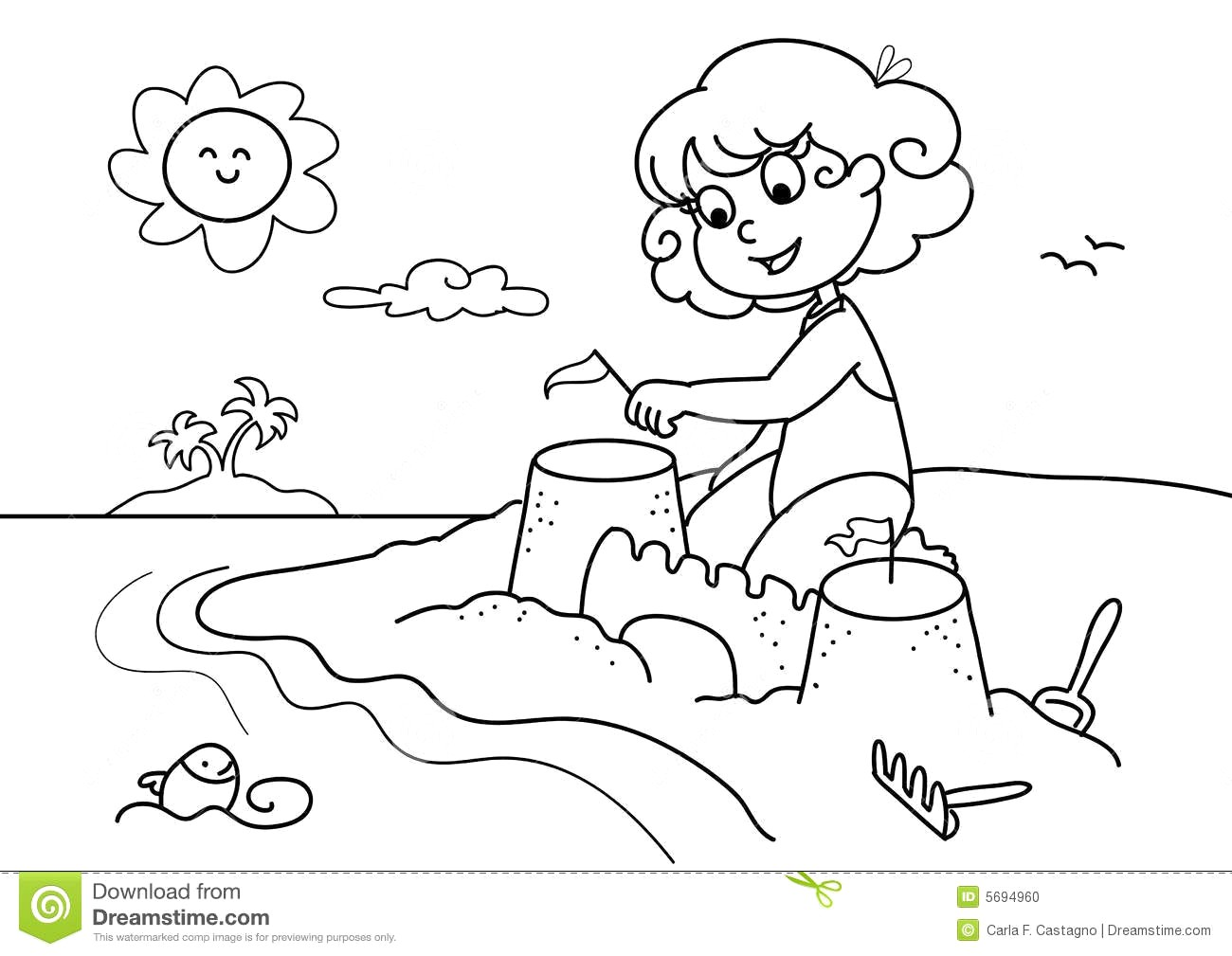 Beach Clipart Black And White 5 Clipart Station