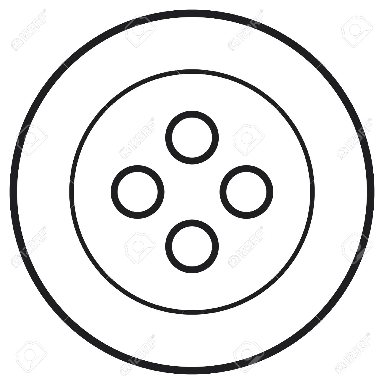 Button Clipart Black And White 1 Clipart Station