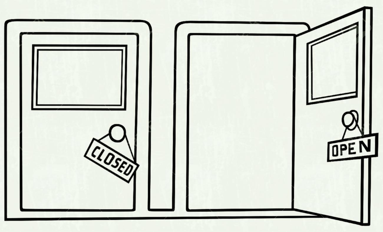 Clipart Black And White Door 2 Clipart Station