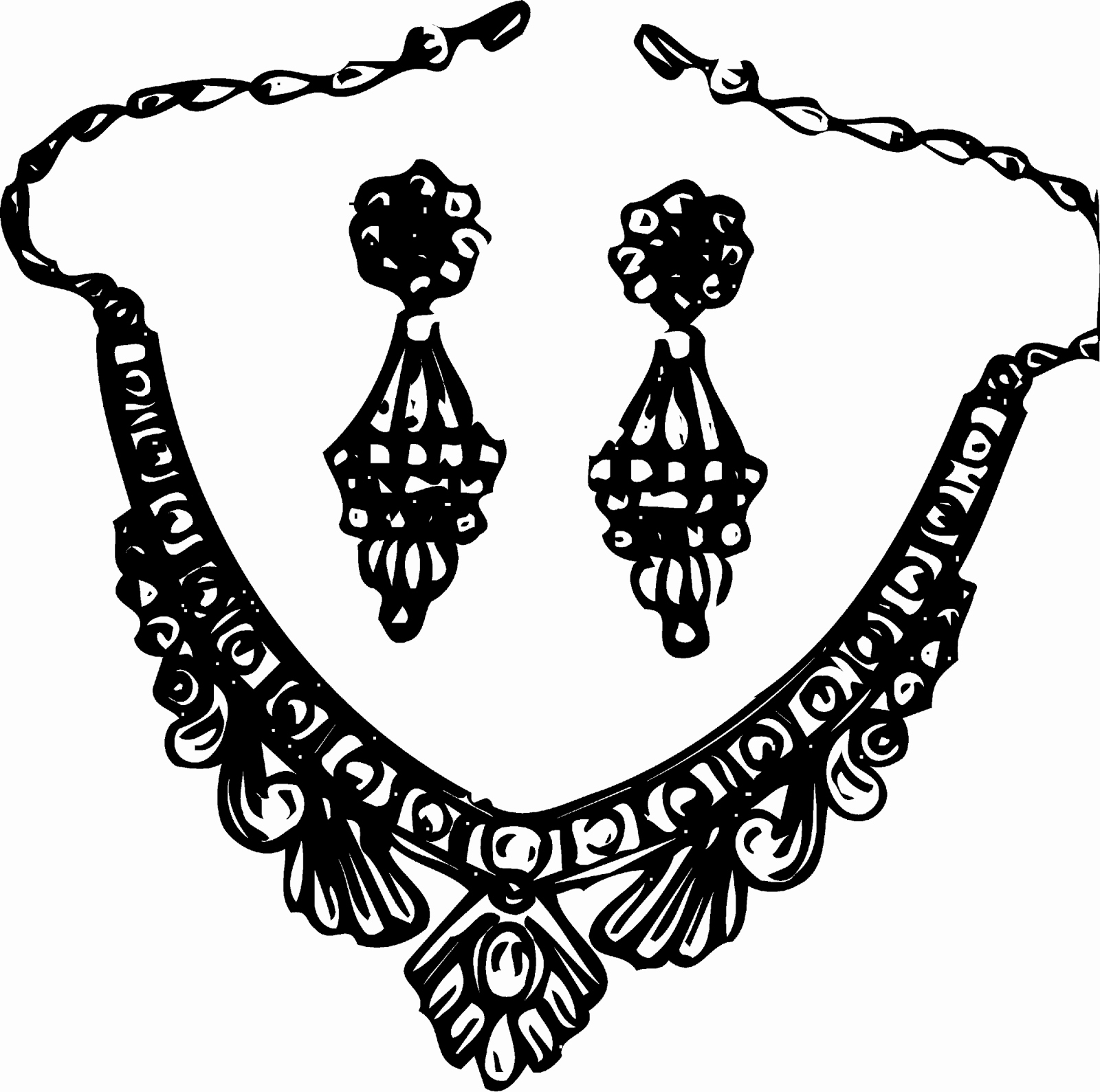 Necklace Black And White Clipart Awesome Jewellery Black