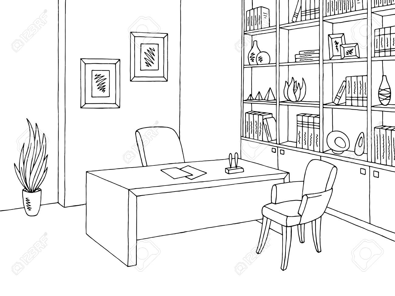 Office Clipart Black And White 5 Clipart Station