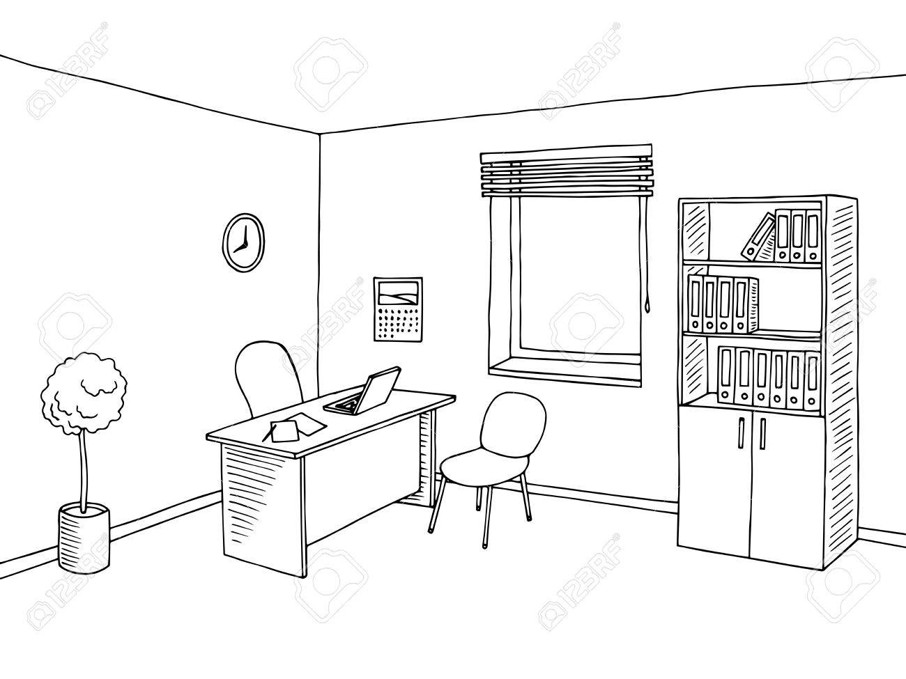 Office Clipart Black And White 6 Clipart Station