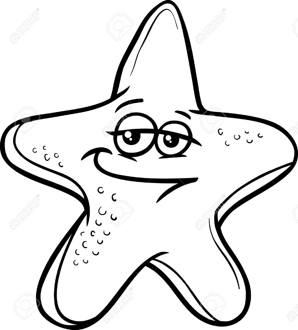 Starfish Black And White Clipart 4 Clipart Station