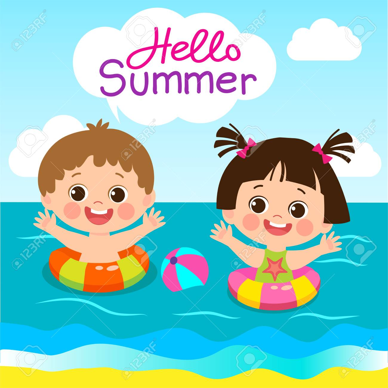 Summer Activities For Kids Clipart 6 Clipart Station