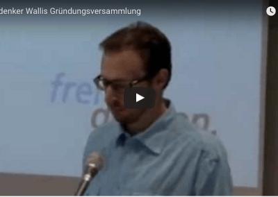 """Video Projekt """"Gründungsversammlung FVS Wallis"""""""