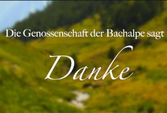 Fundraising Projekt Bachalpe