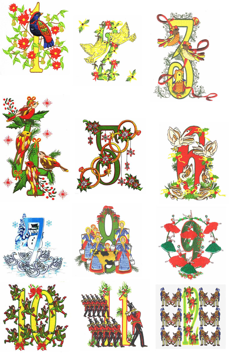 12 Days Of Christmas Pictures Clip Art Clipground