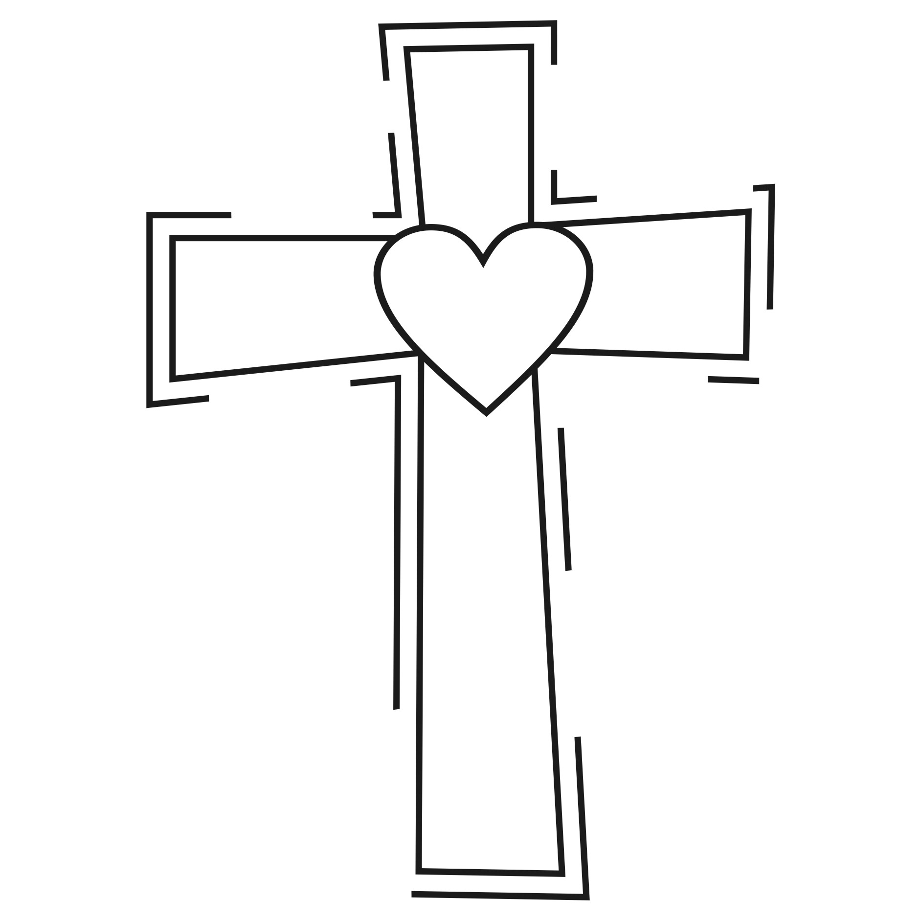 Free Black And White Cross Clipart