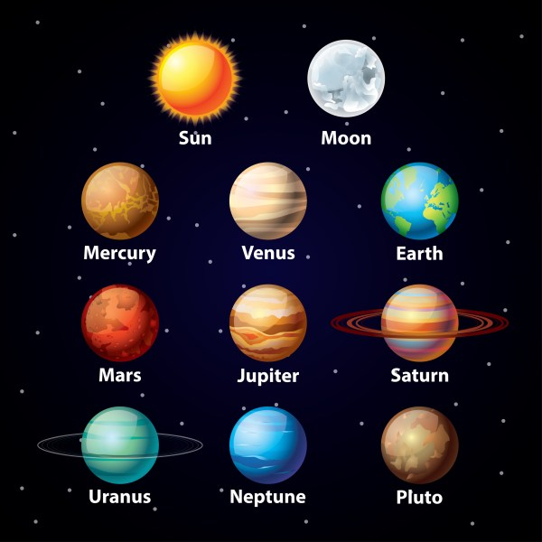 8 planets clipart - Clipground