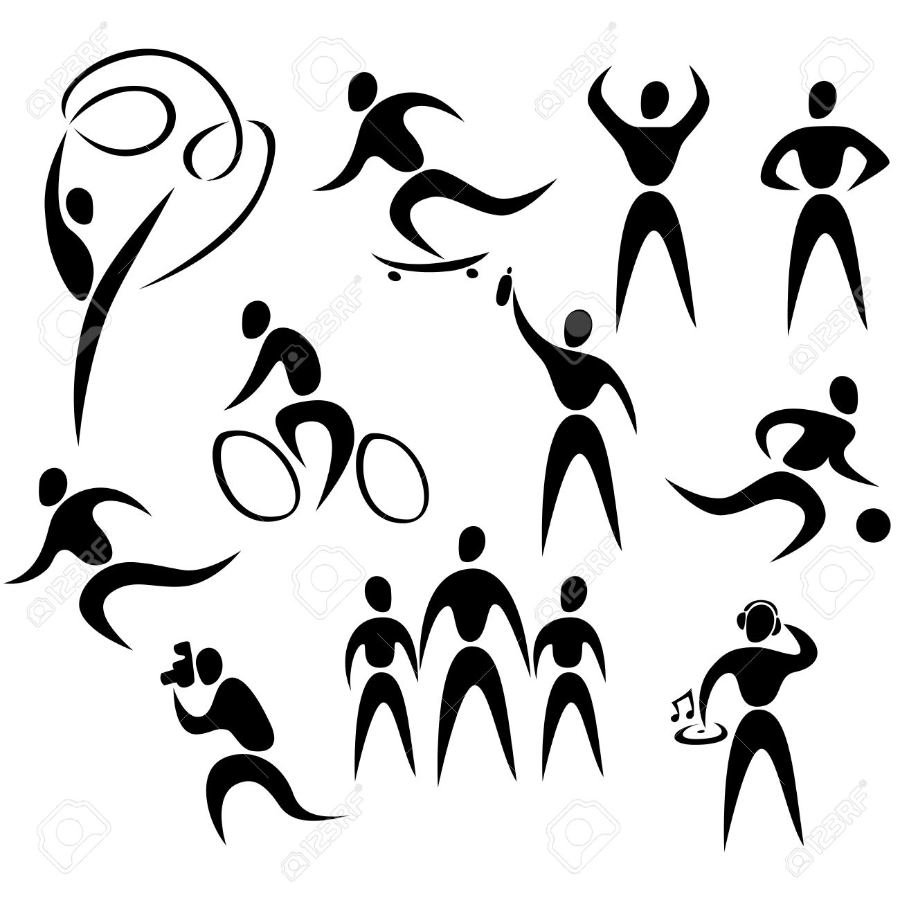 Healthy People Clipart