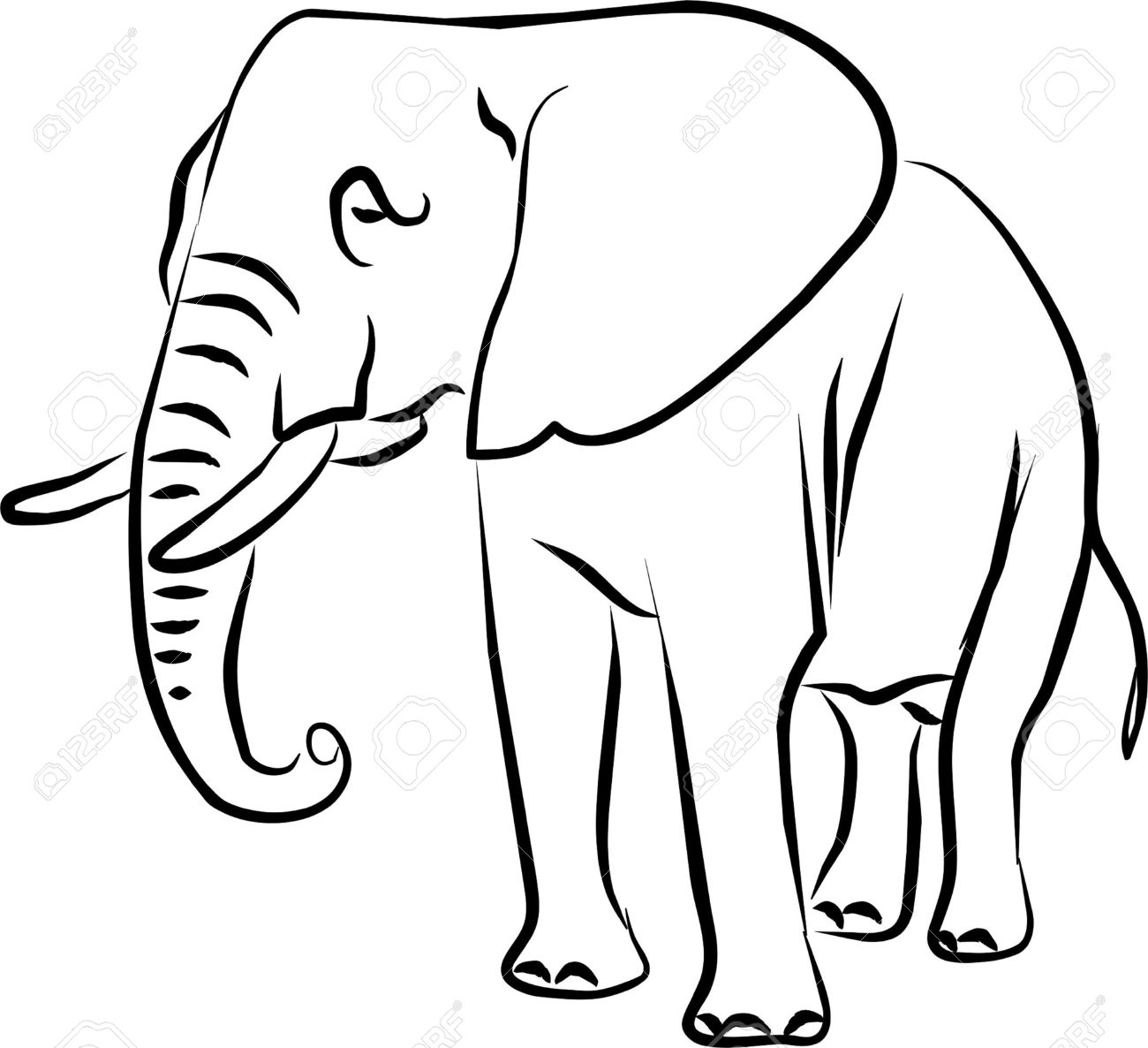 African Bush Elephant Clipart