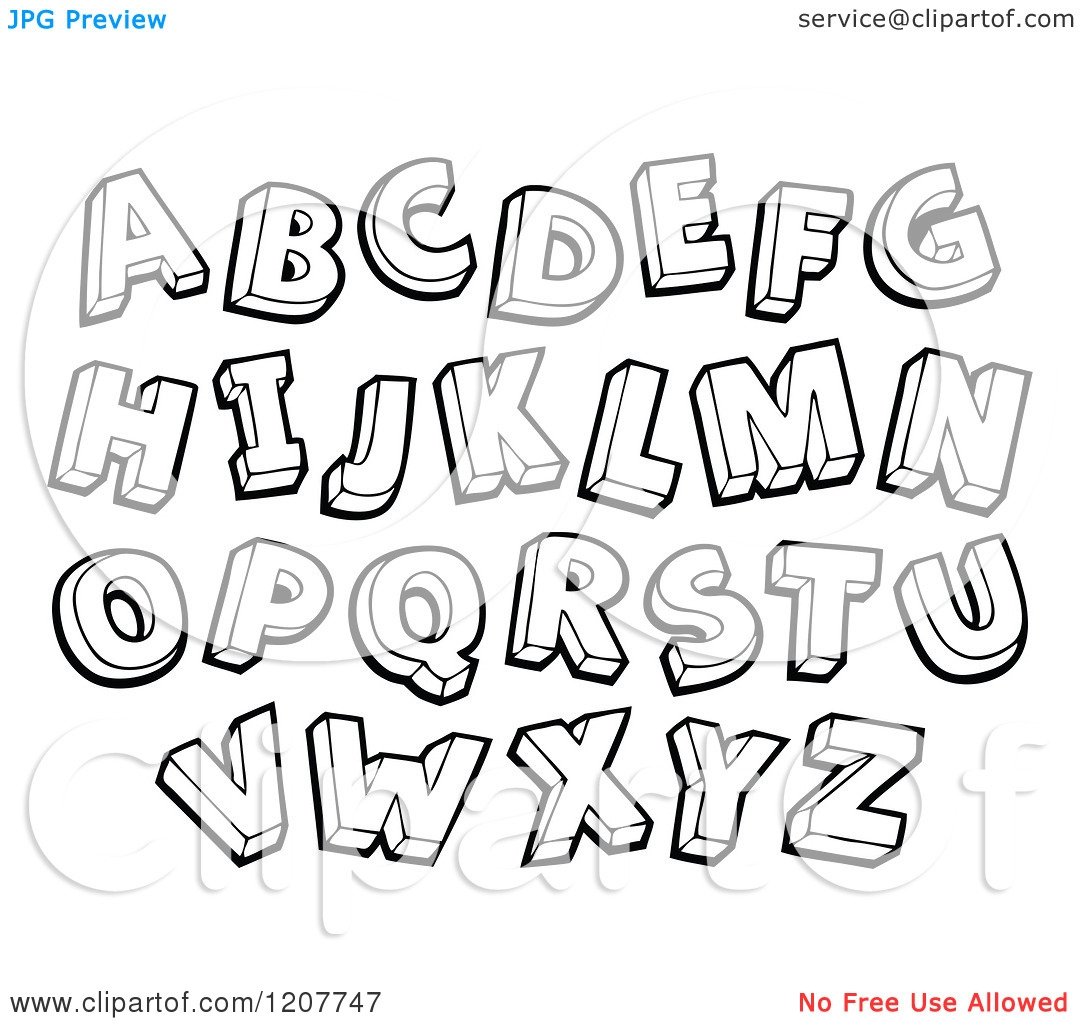 Alphabet Letter Clipart Black And White 20 Free Cliparts
