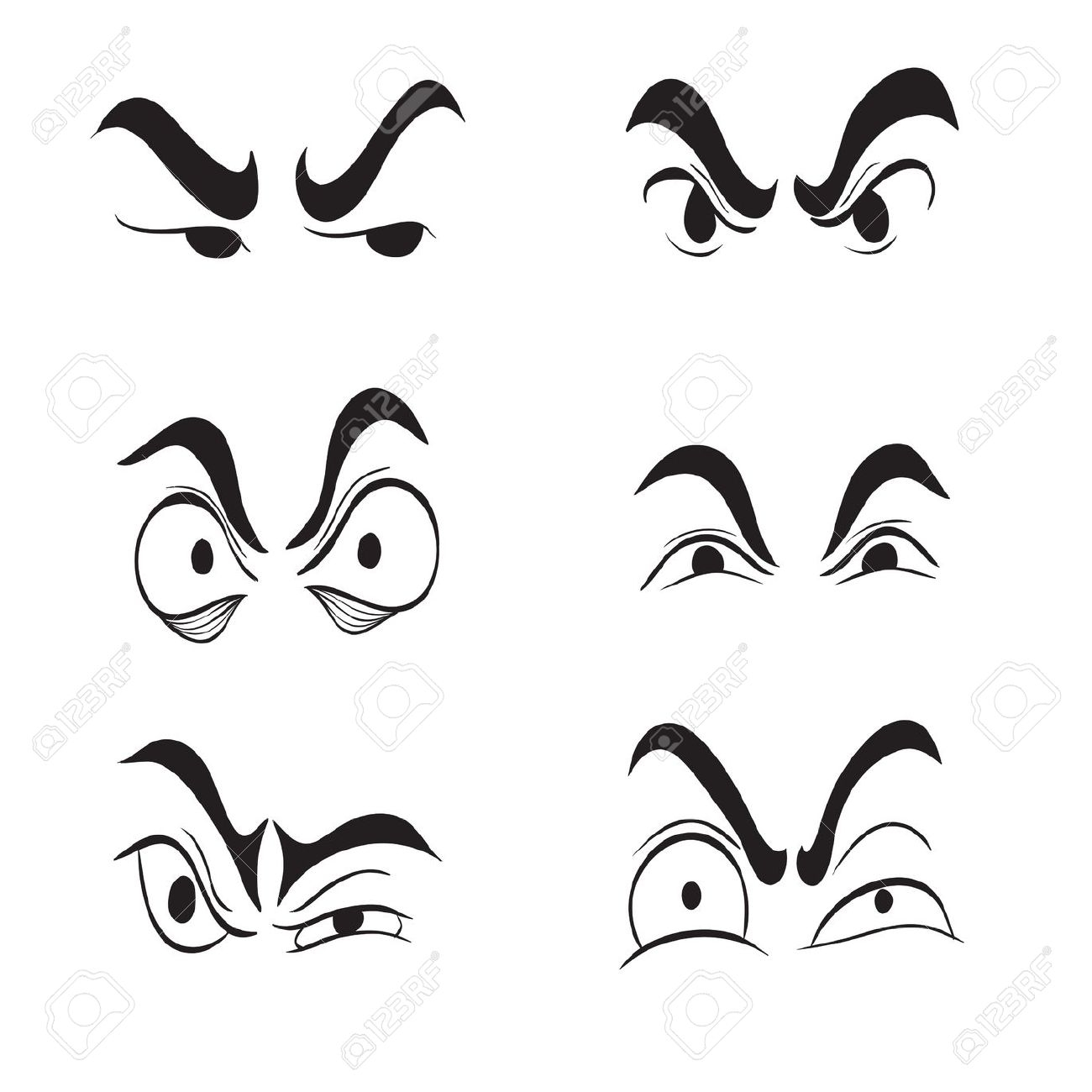 Angy Eyes Clipart 20 Free Cliparts