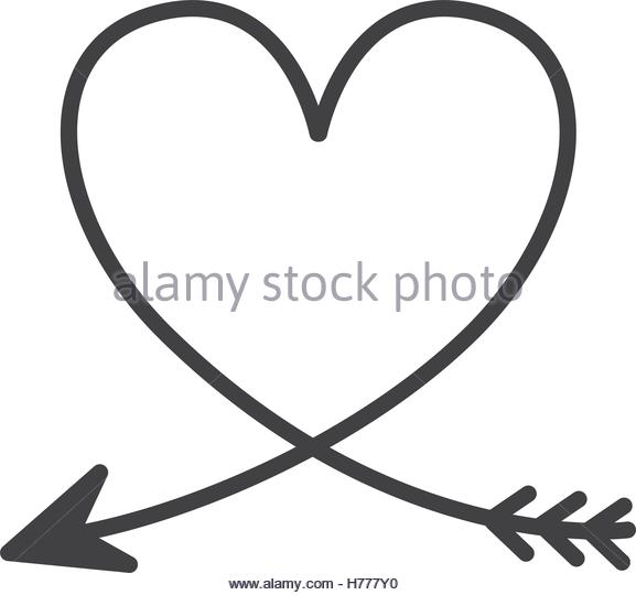 Download arrow heart clipart black and white for silhouette 20 free ...