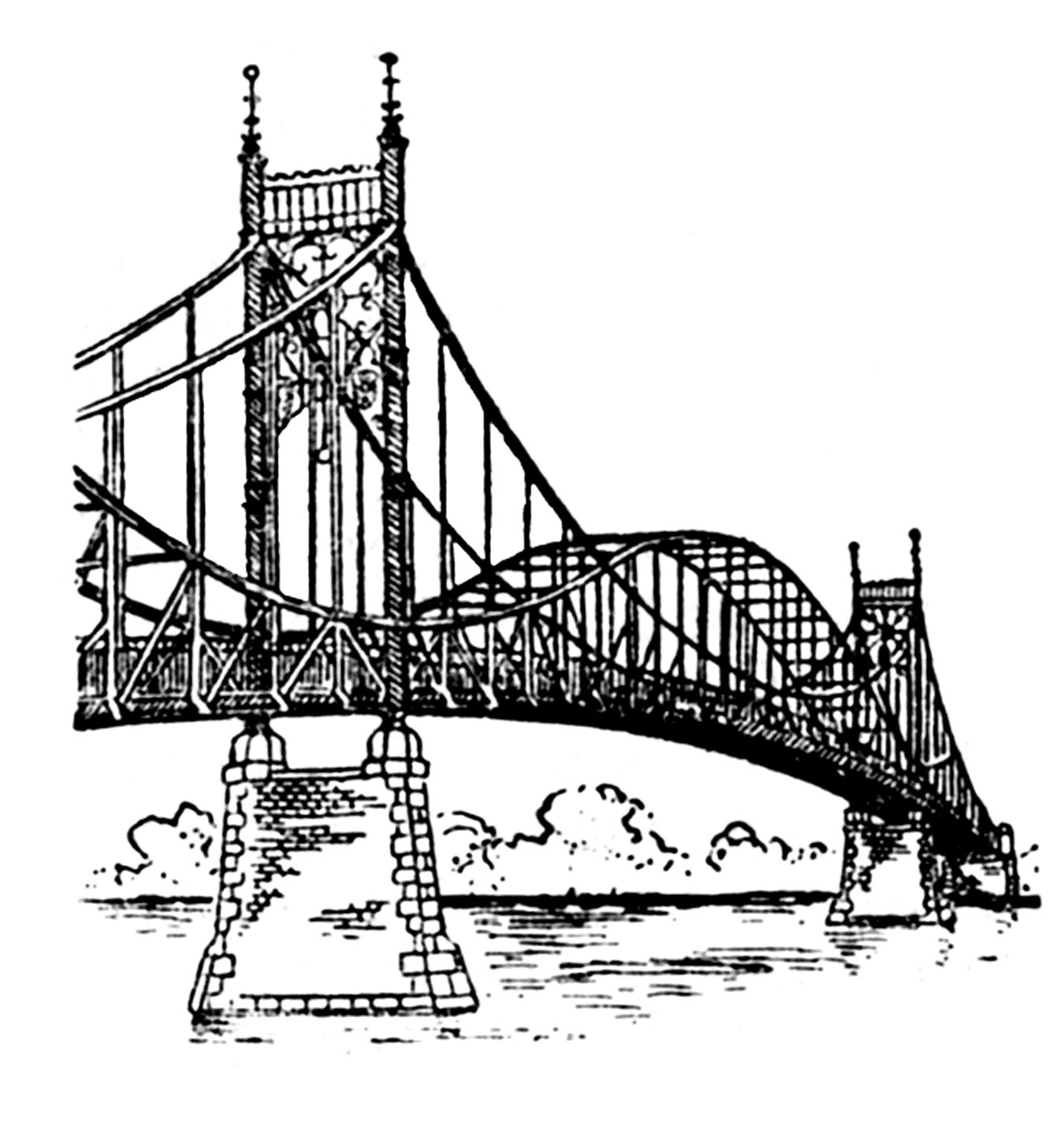 Steel Bridge Clipart Clipground
