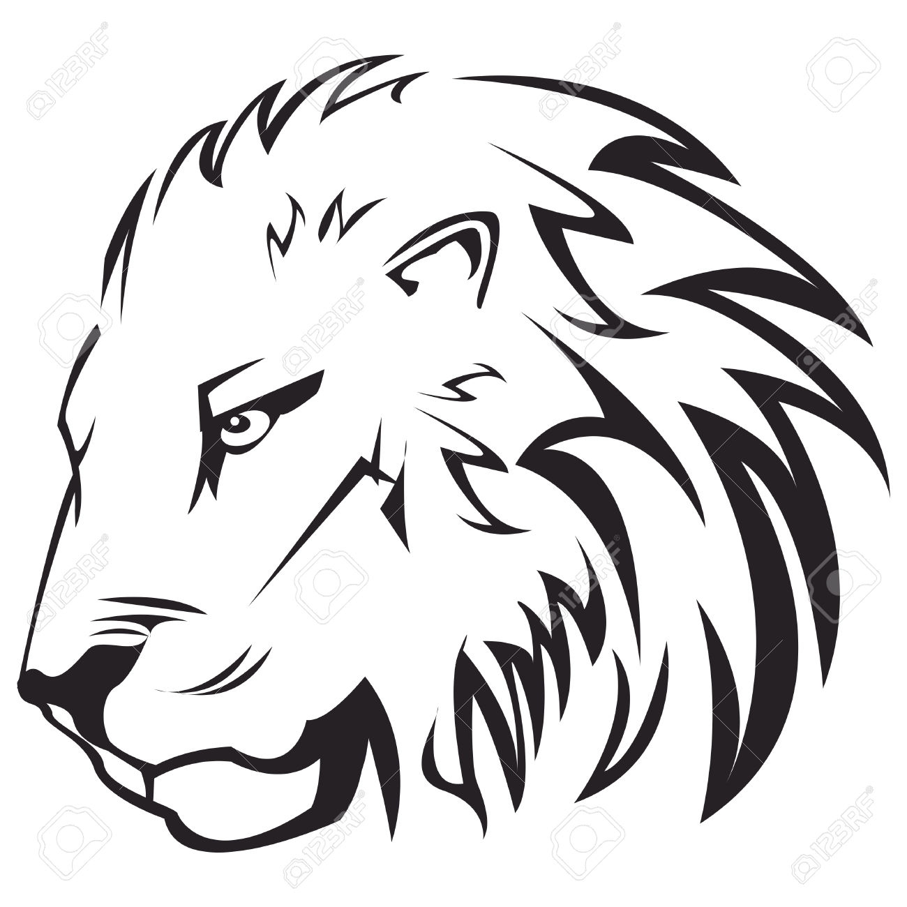 Aslan Clipart Black And White Outline 20 Free Cliparts