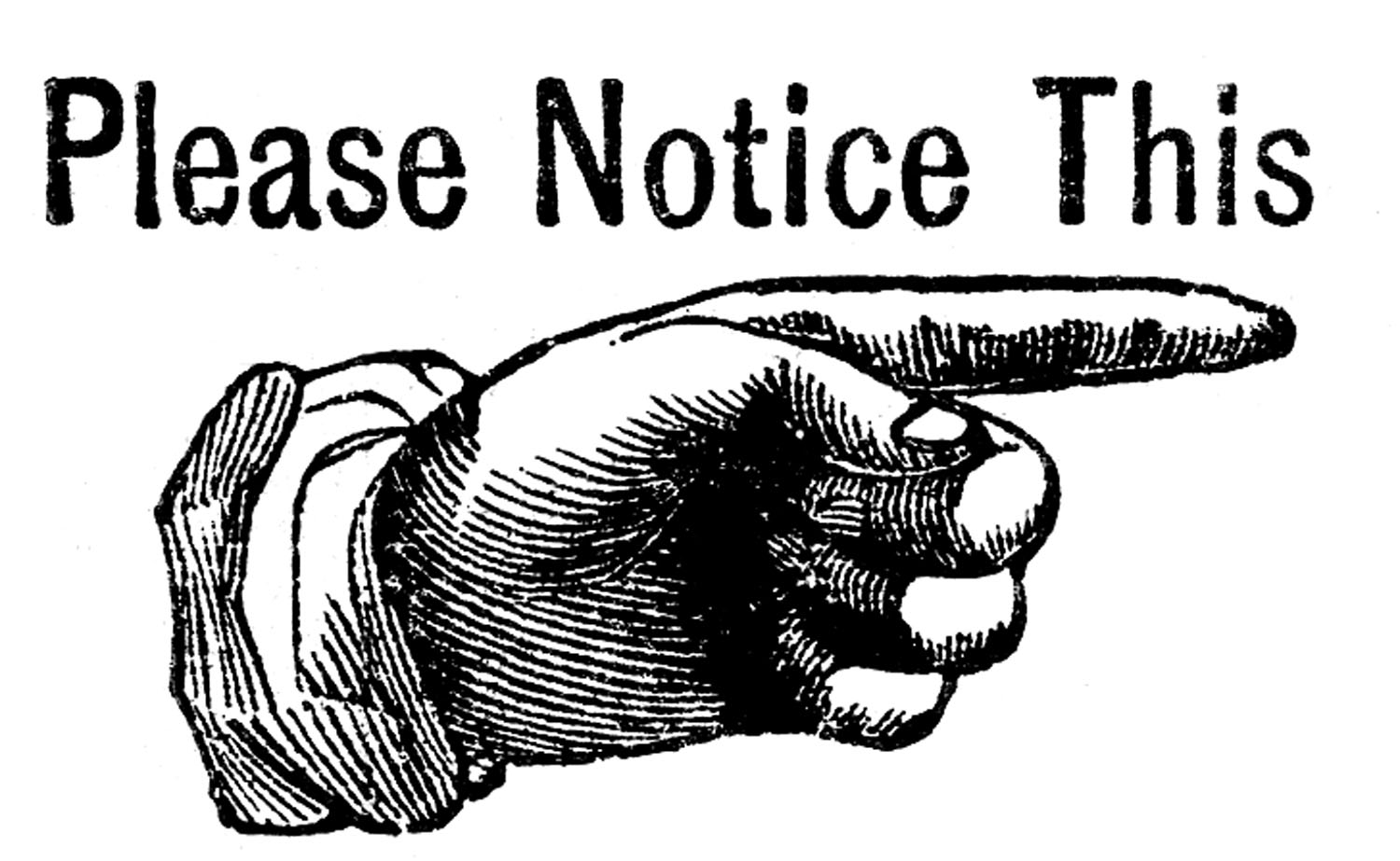 Free Clipart Attention Sign