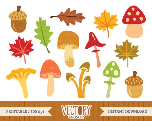 Autumn mushrooms clipart Clipground