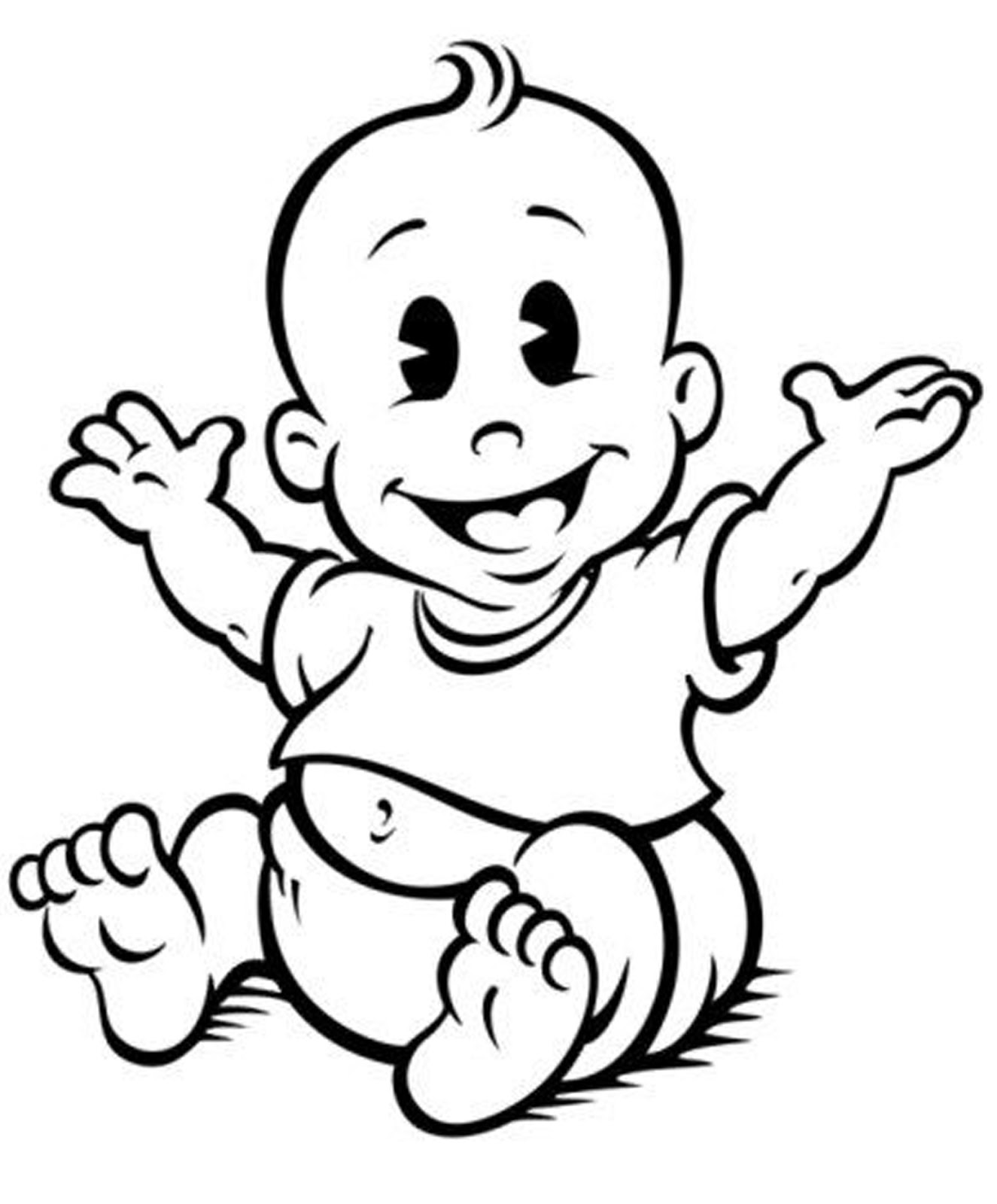 Baby Shower Black And White Clipart