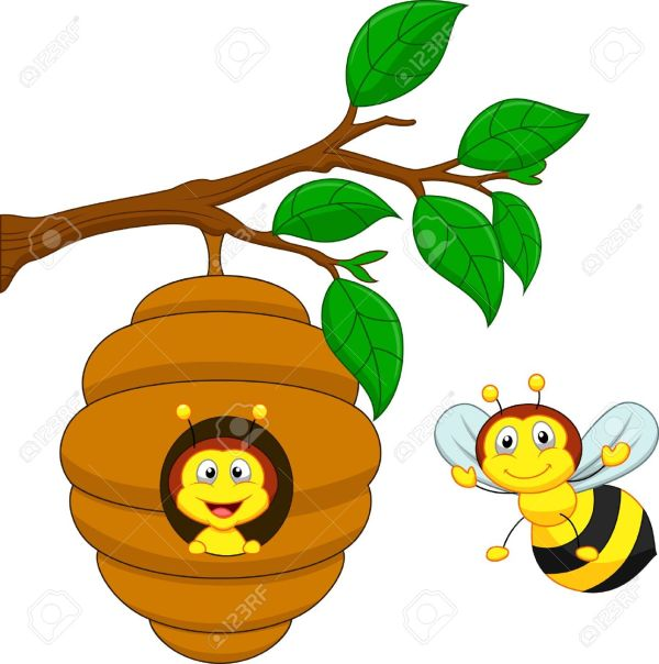 Bee house clipart Clipground