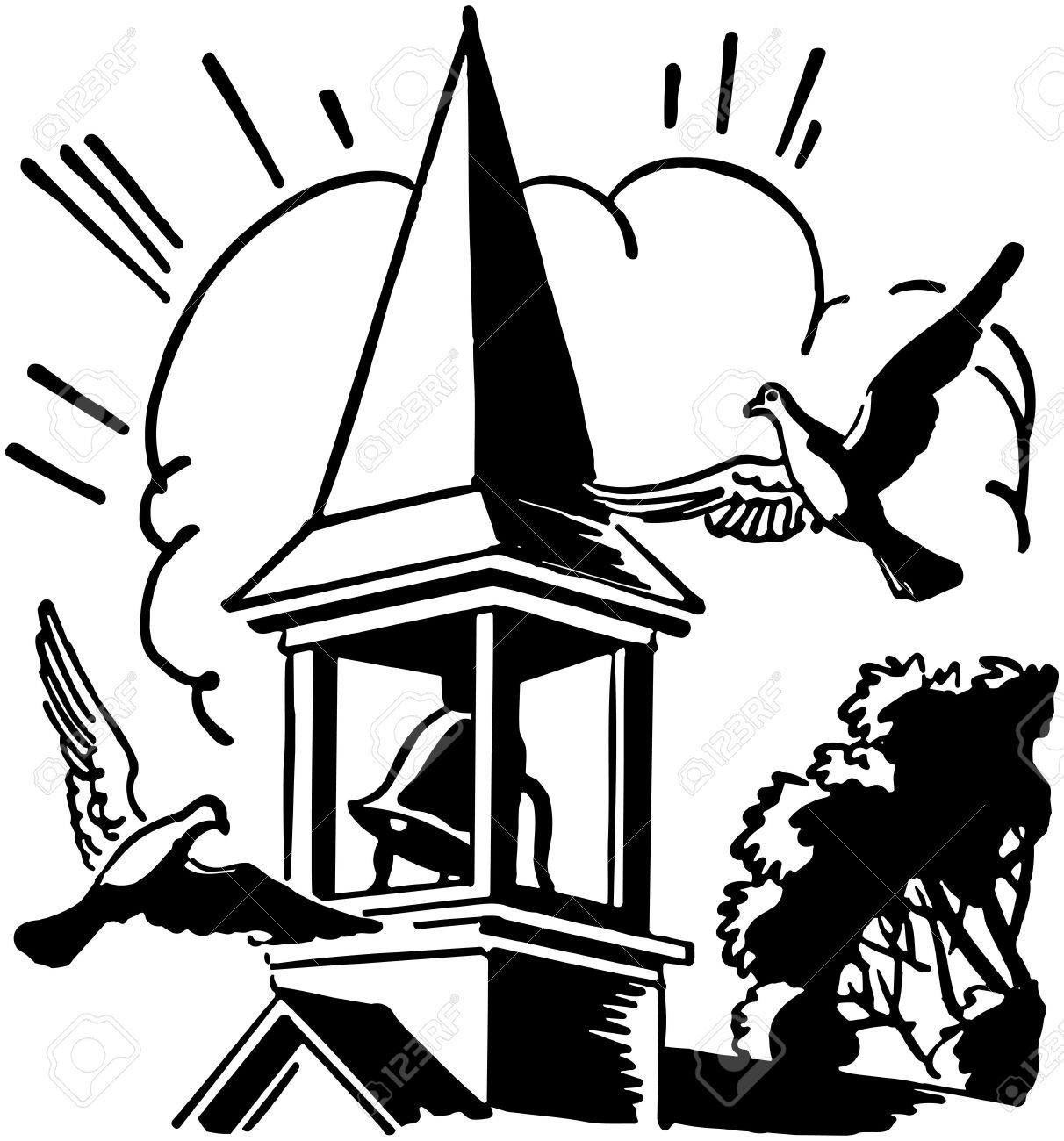 Bell Towers Clipart