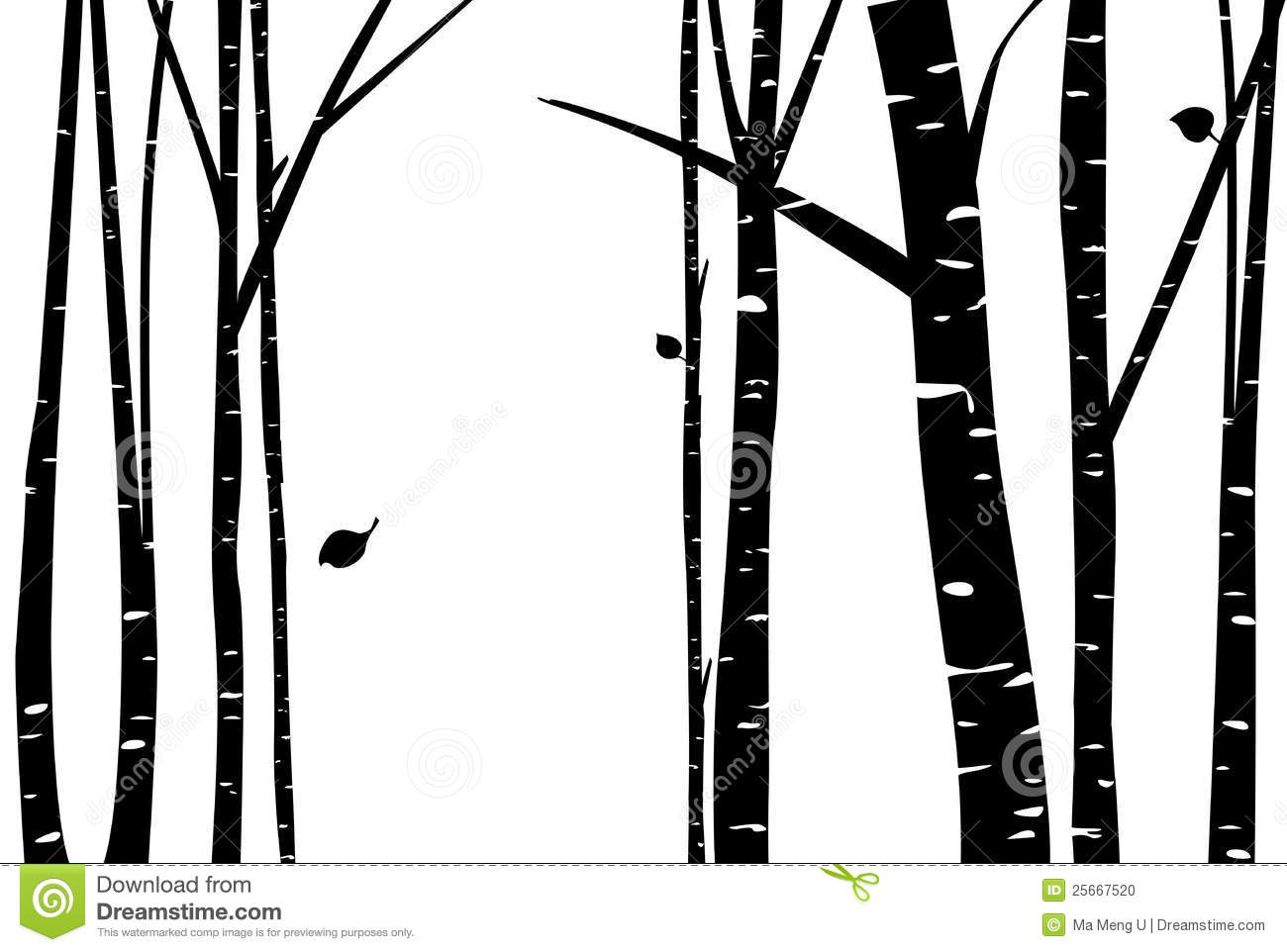 Birch Wood Clipart