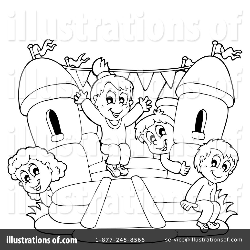 Black And White Bounce House Clipart 20 Free Cliparts