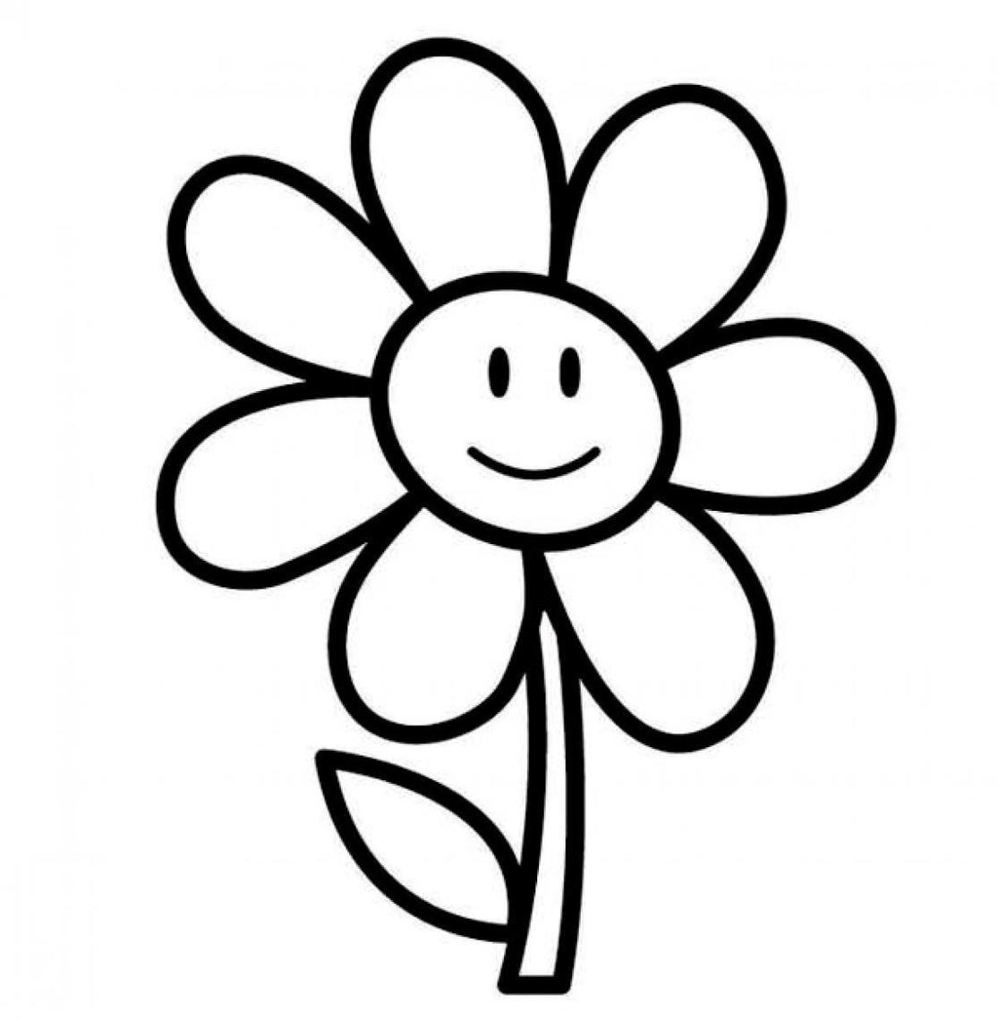Black And White Clipart Flower