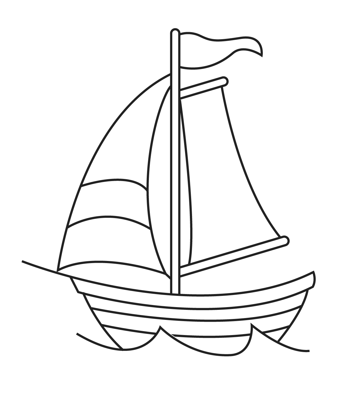 Black And White Sailboat Clipart 20 Free Cliparts