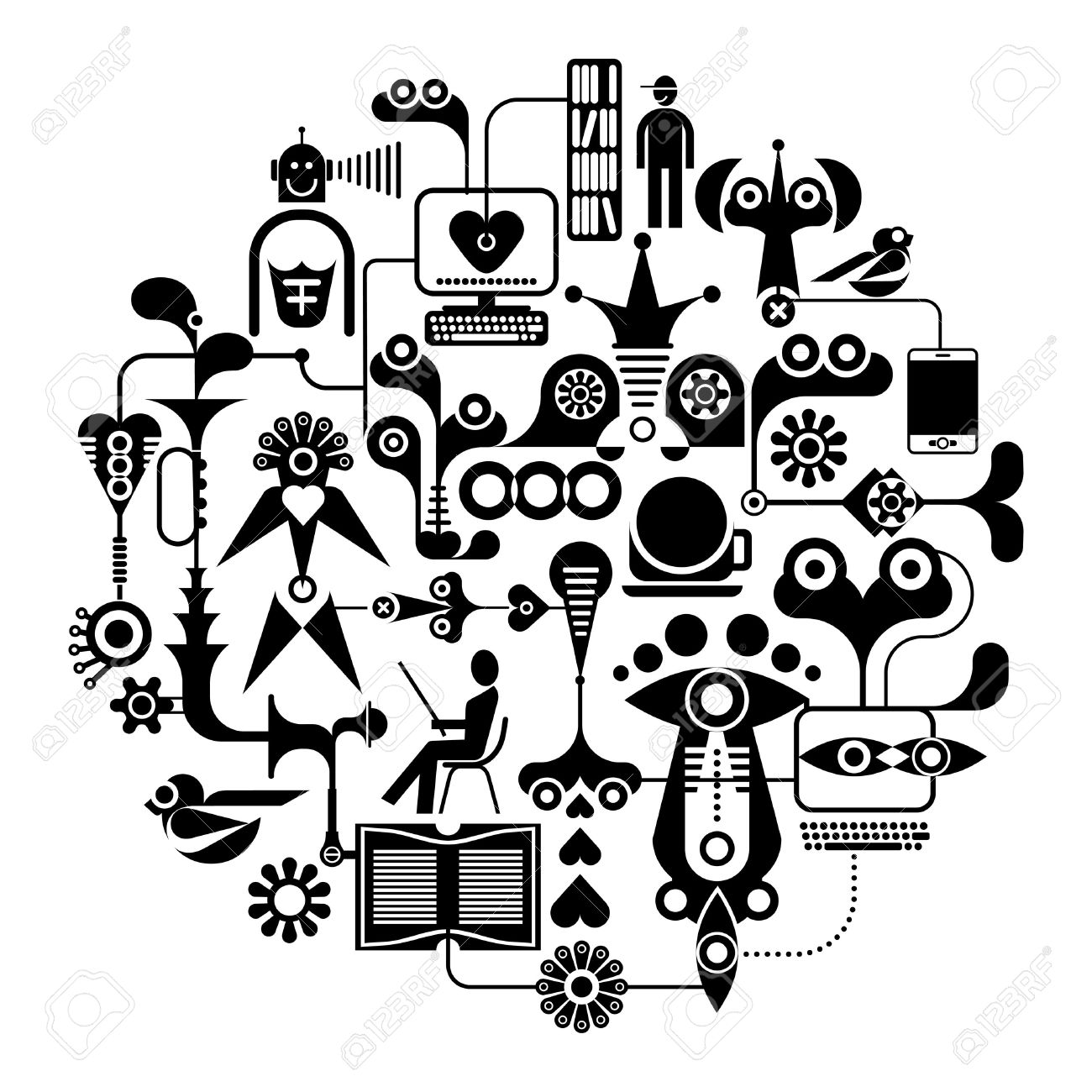 Black Network Clipart 20 Free Cliparts