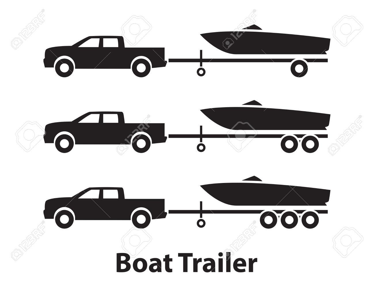 Boat Trailer Clipart