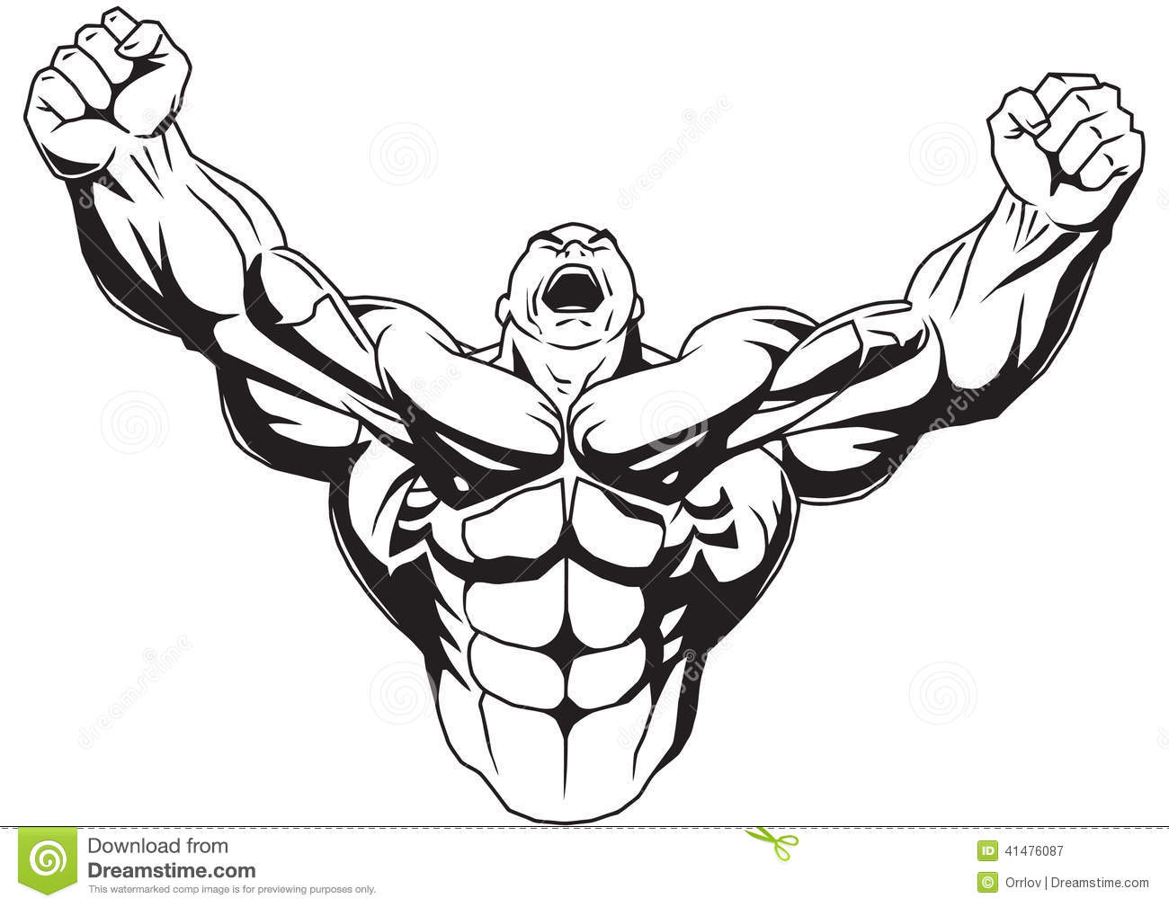 Body Builder Clipart