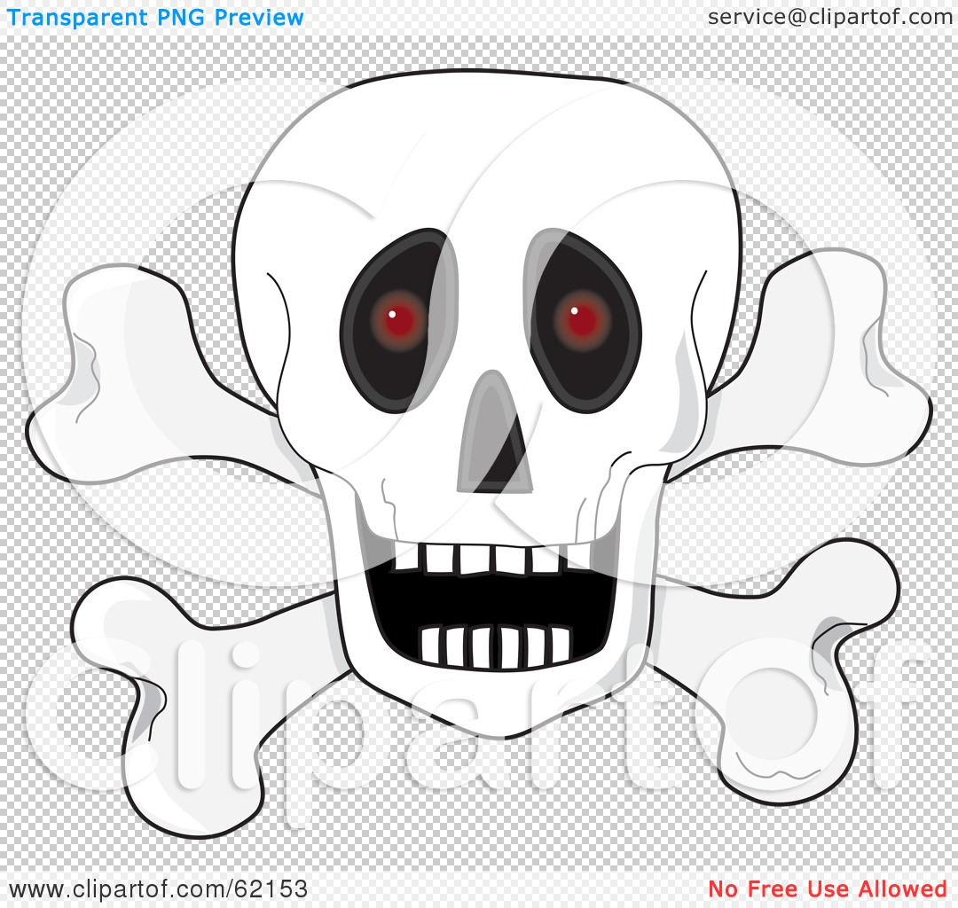 Skull With Open Mouth Clipart