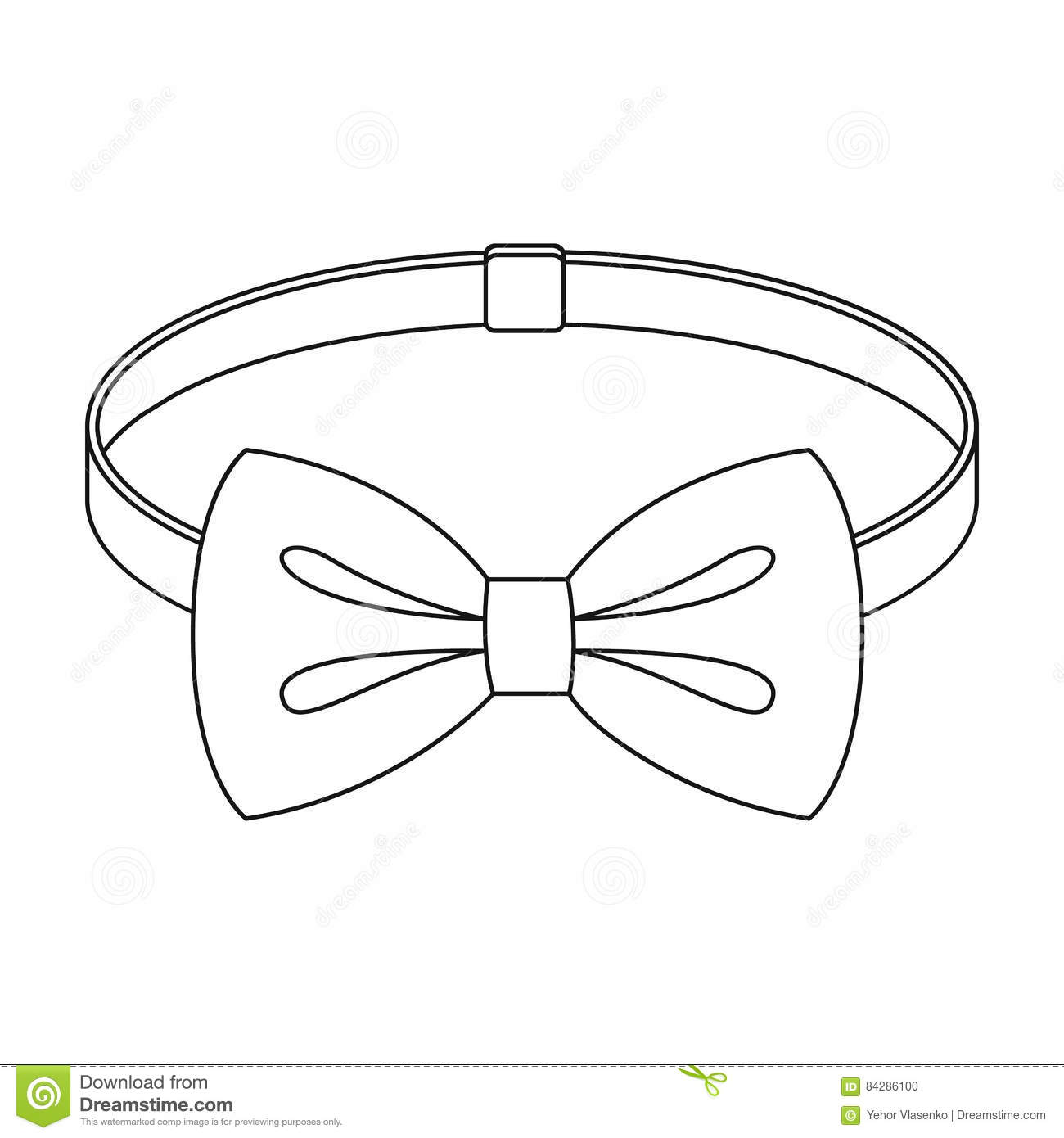 Bow Tie Outline Clipart