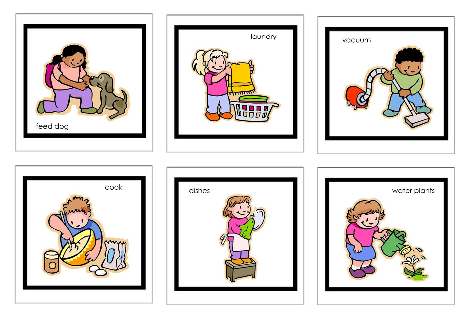 Laundry Sequencing Worksheet