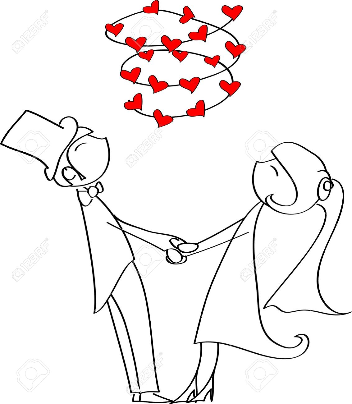 Bride Grabbing Groom Clipart 20 Free Cliparts