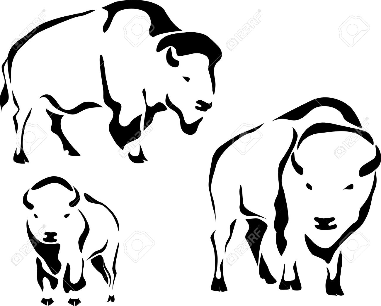 Buffalo Clipart Outline