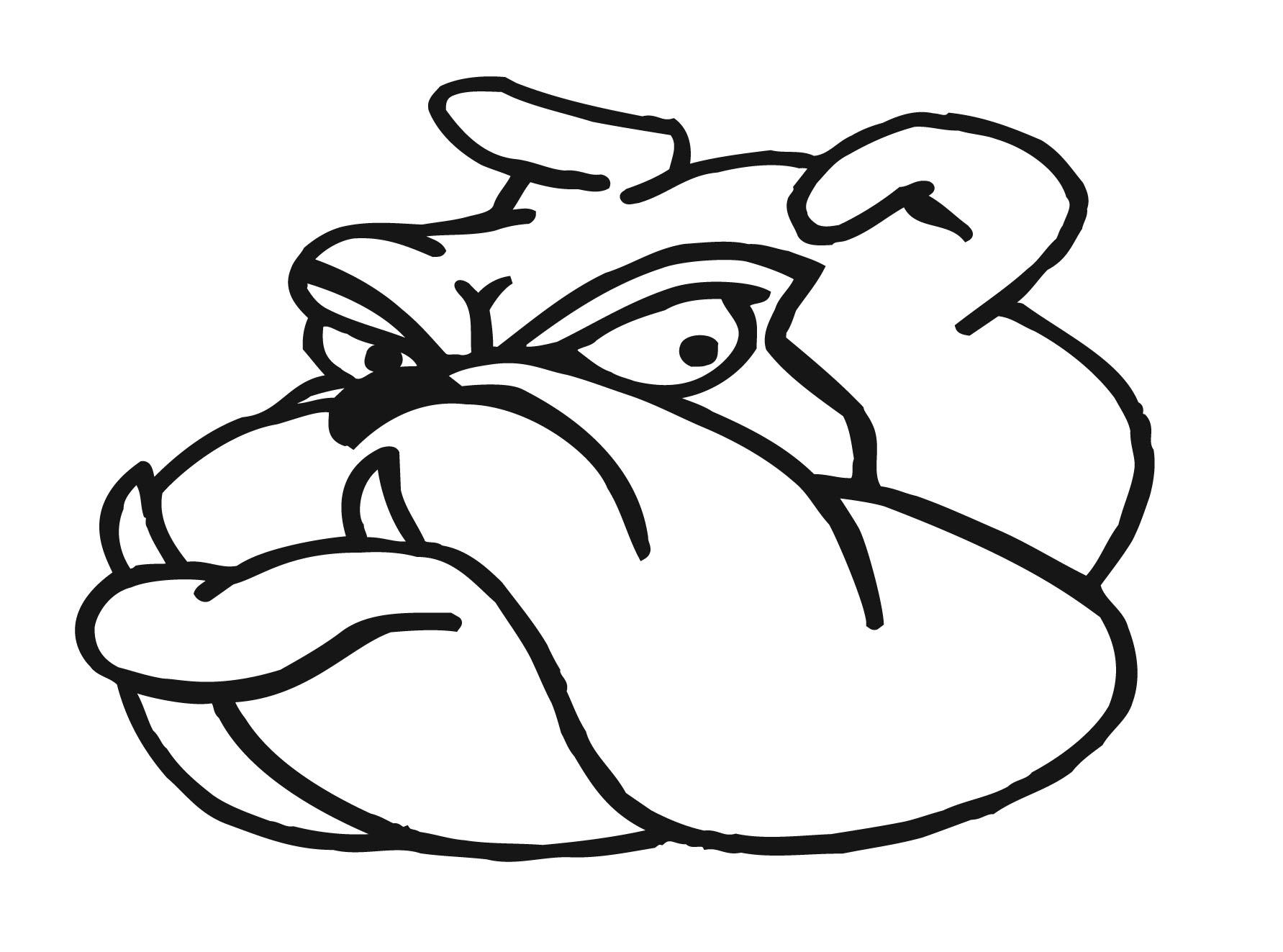 Bulldog Outline Clipart