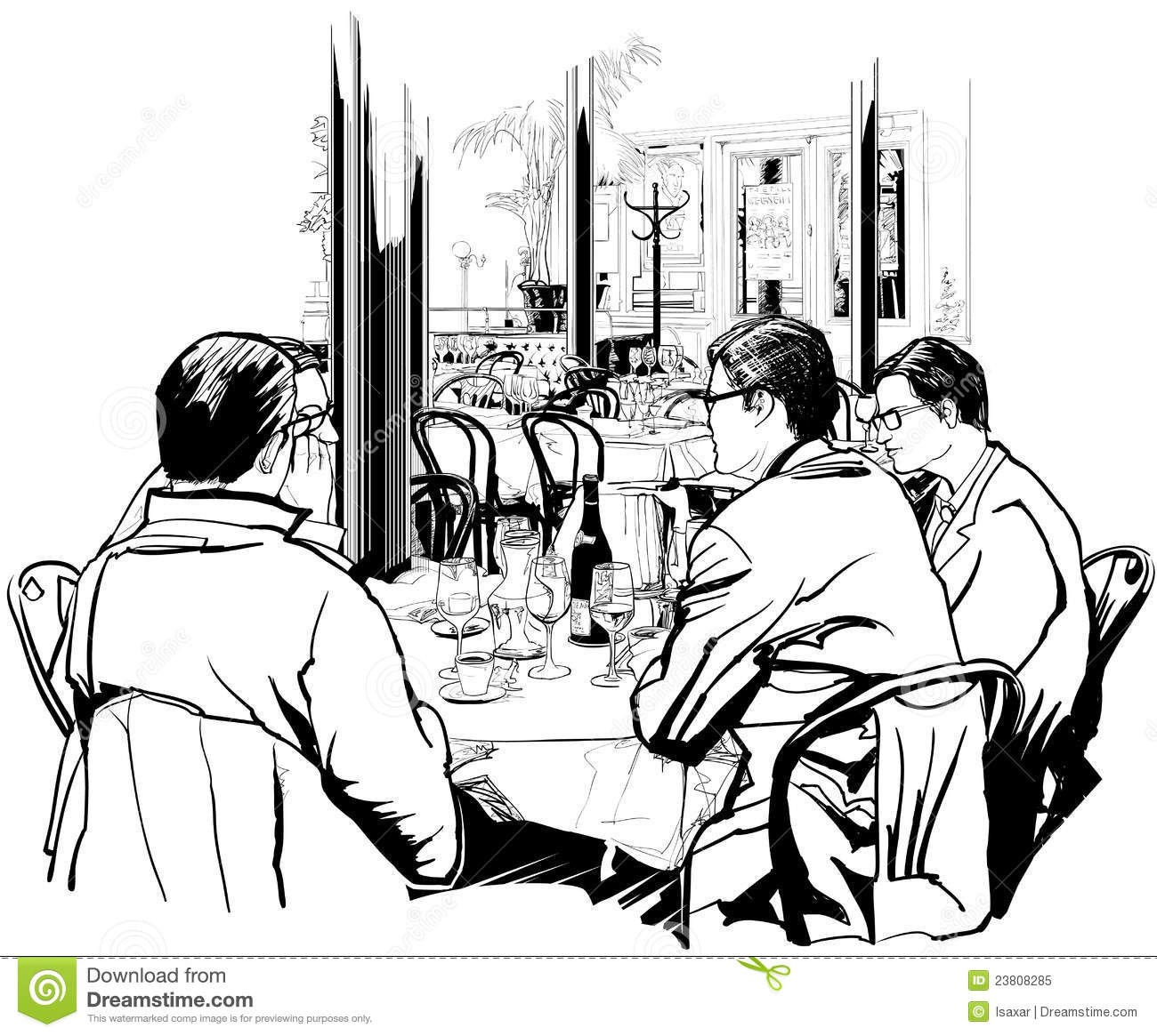 Business Lunch Meeting Clipart