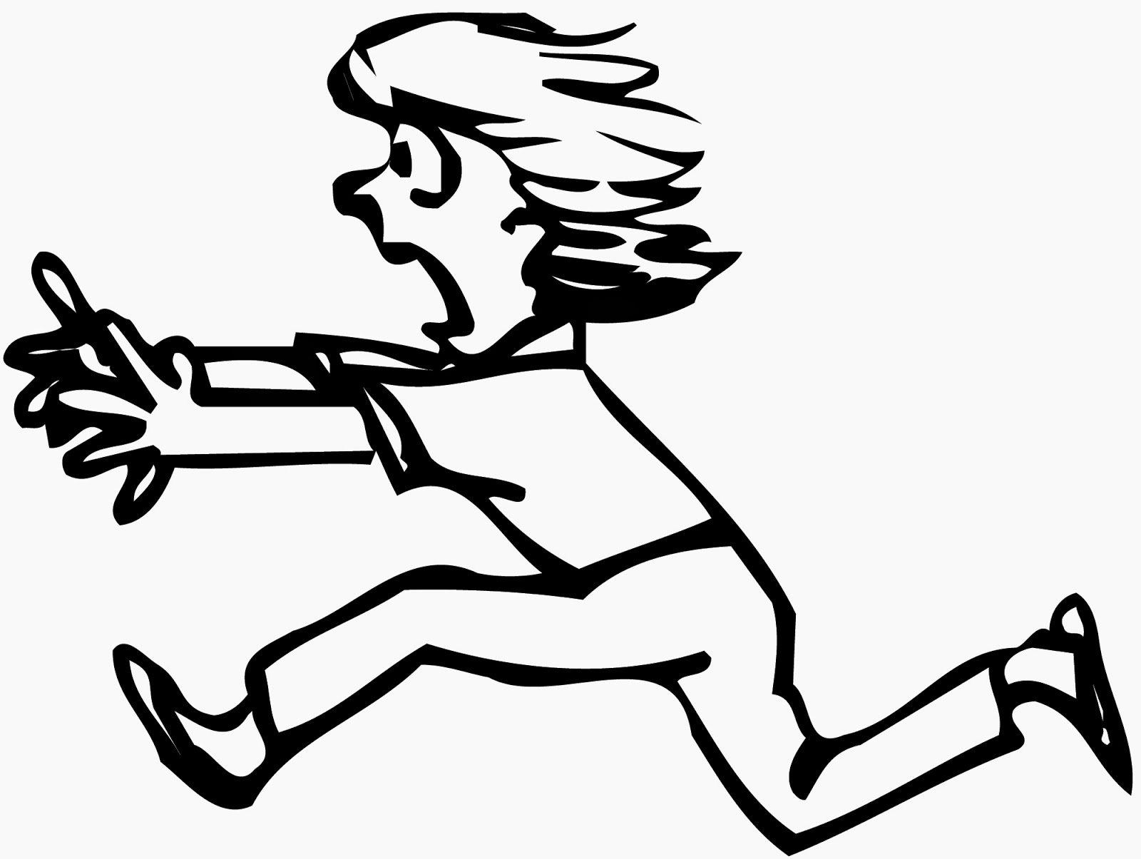 Run Away Clipart