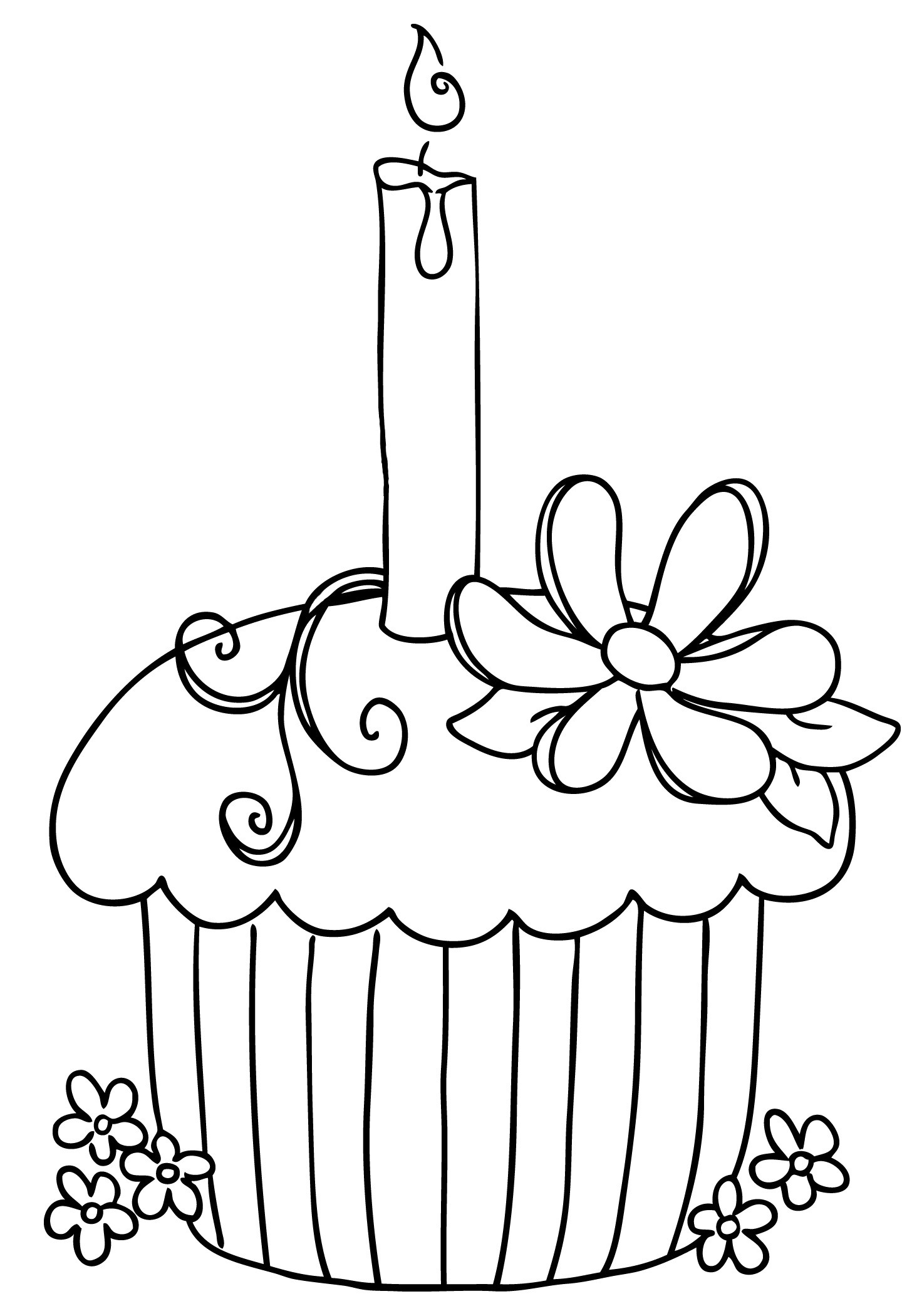 Cake Clipart Black And White No Candles 20 Free Cliparts
