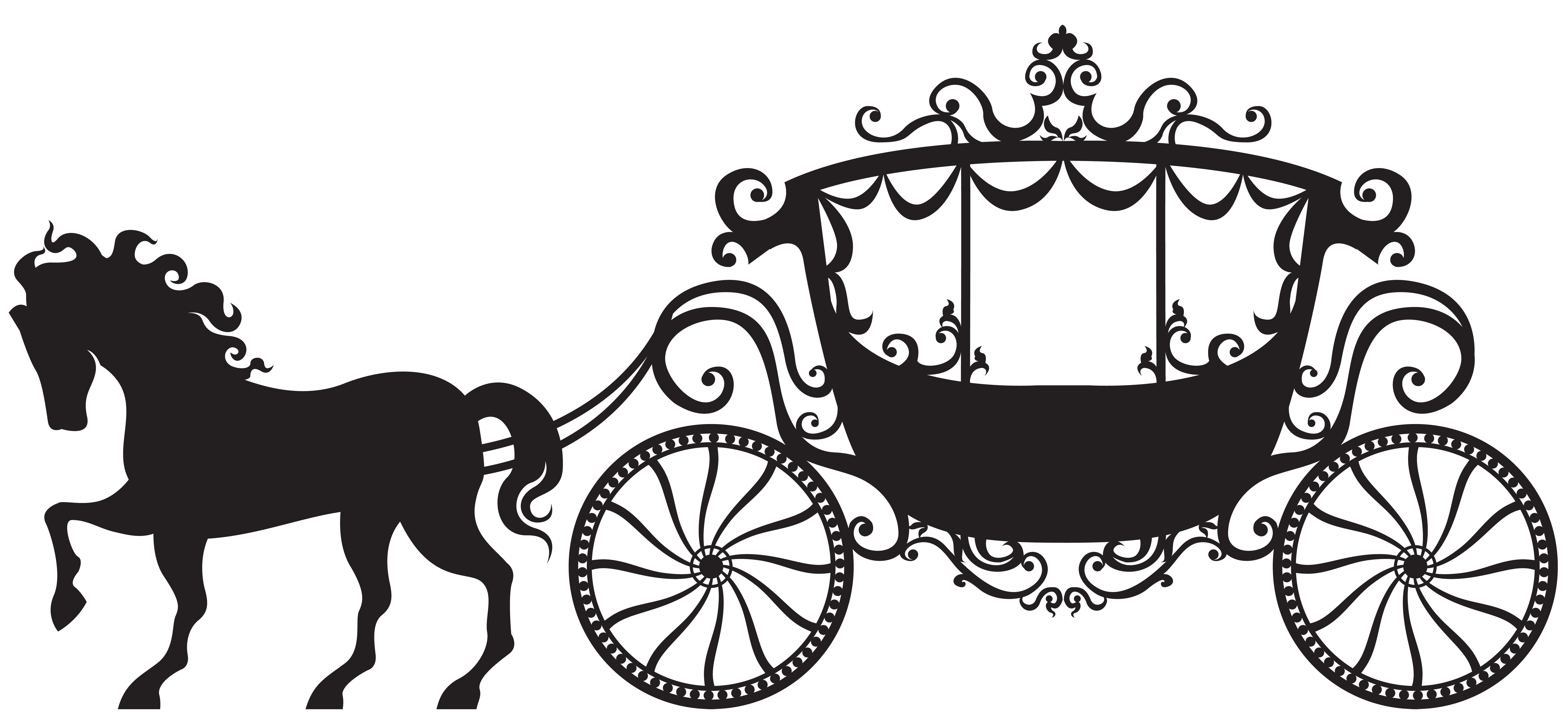 Carriage Silhouette Clipart