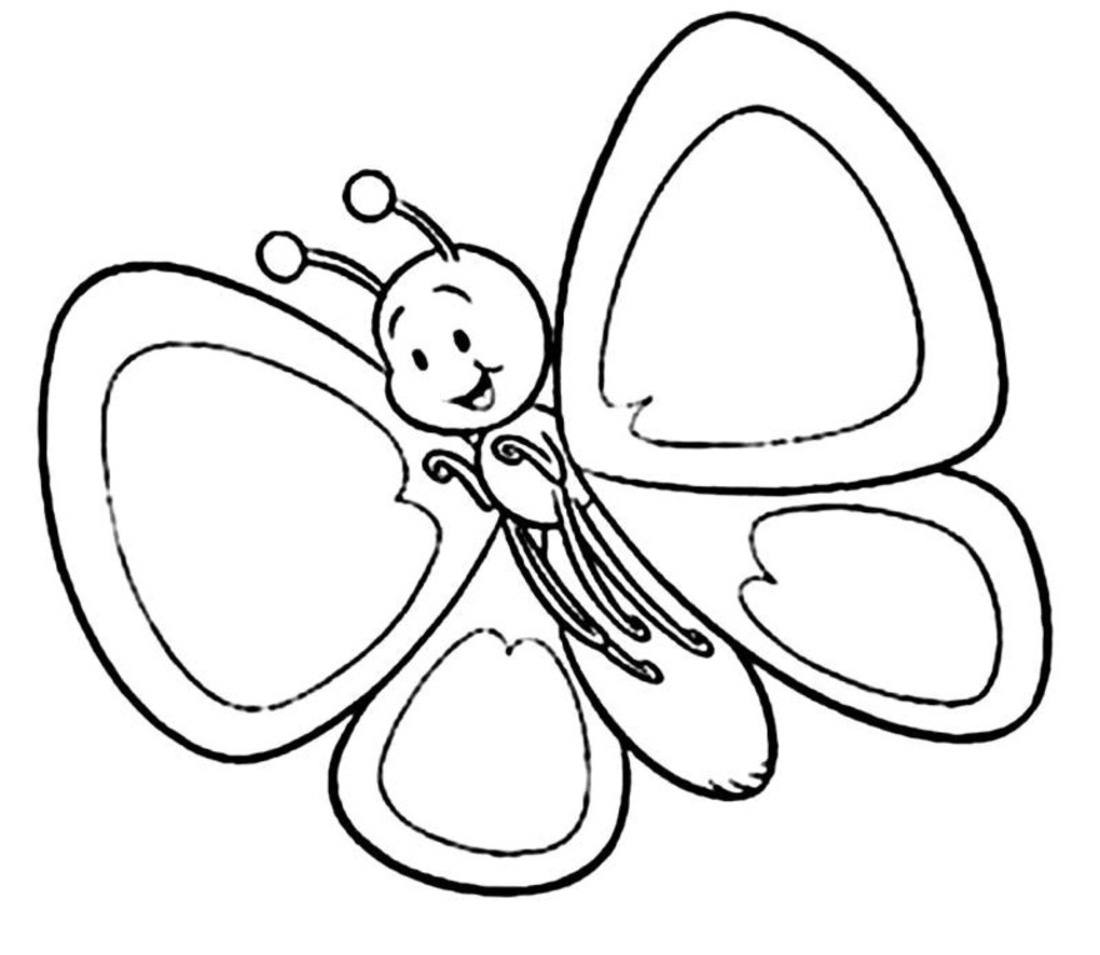 Cartoon Butterfly Clipart Black And White 20 Free Cliparts
