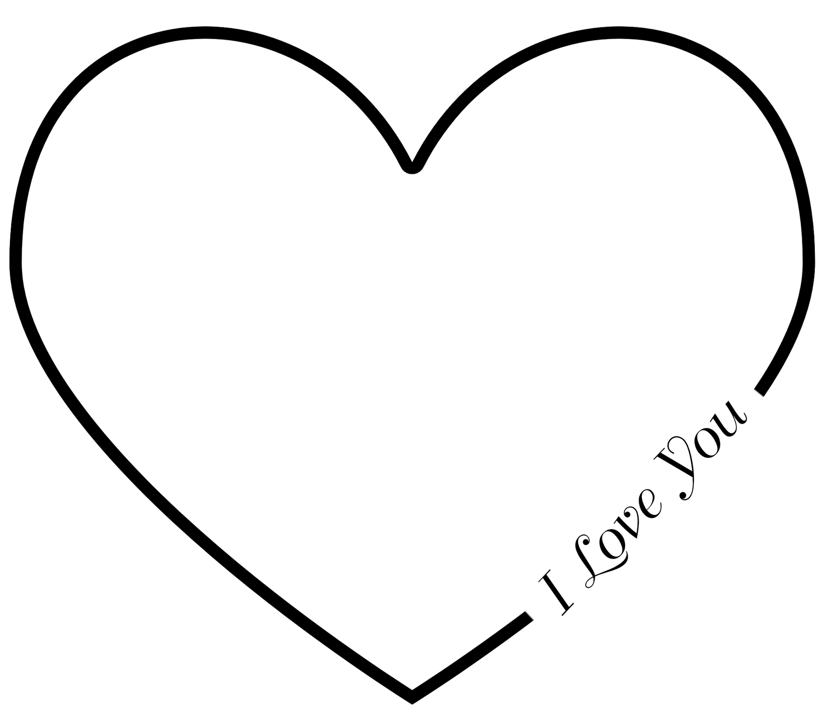 Carved Heart Outline Clipart