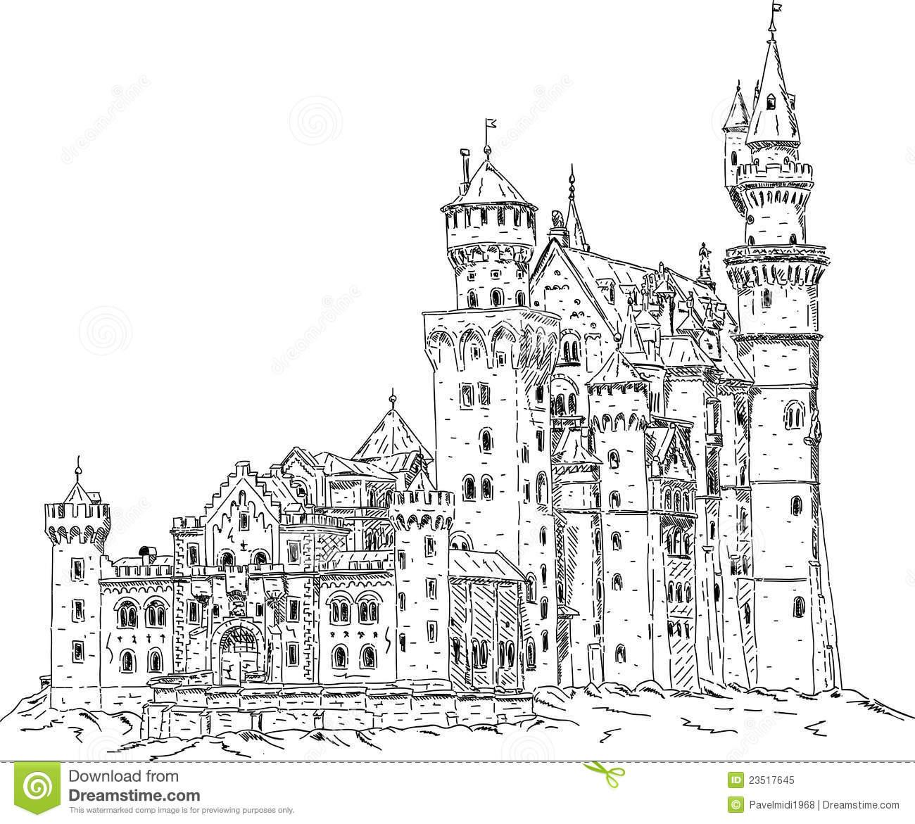 Castle Neuschwanstein Clipart