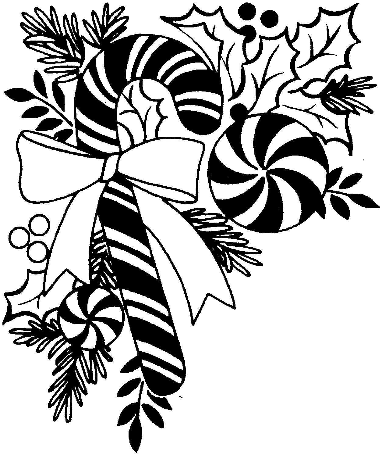 Christmas Borders Black And White Clipart
