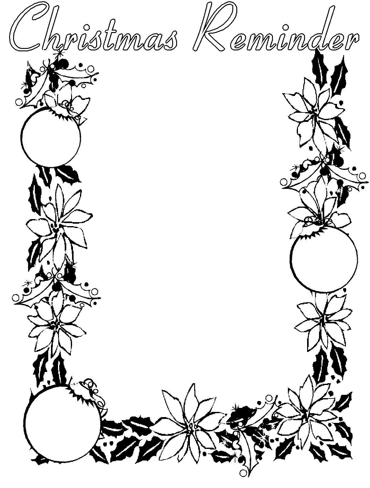 Free Christmas Clipart Flowers Black And White 20 Free