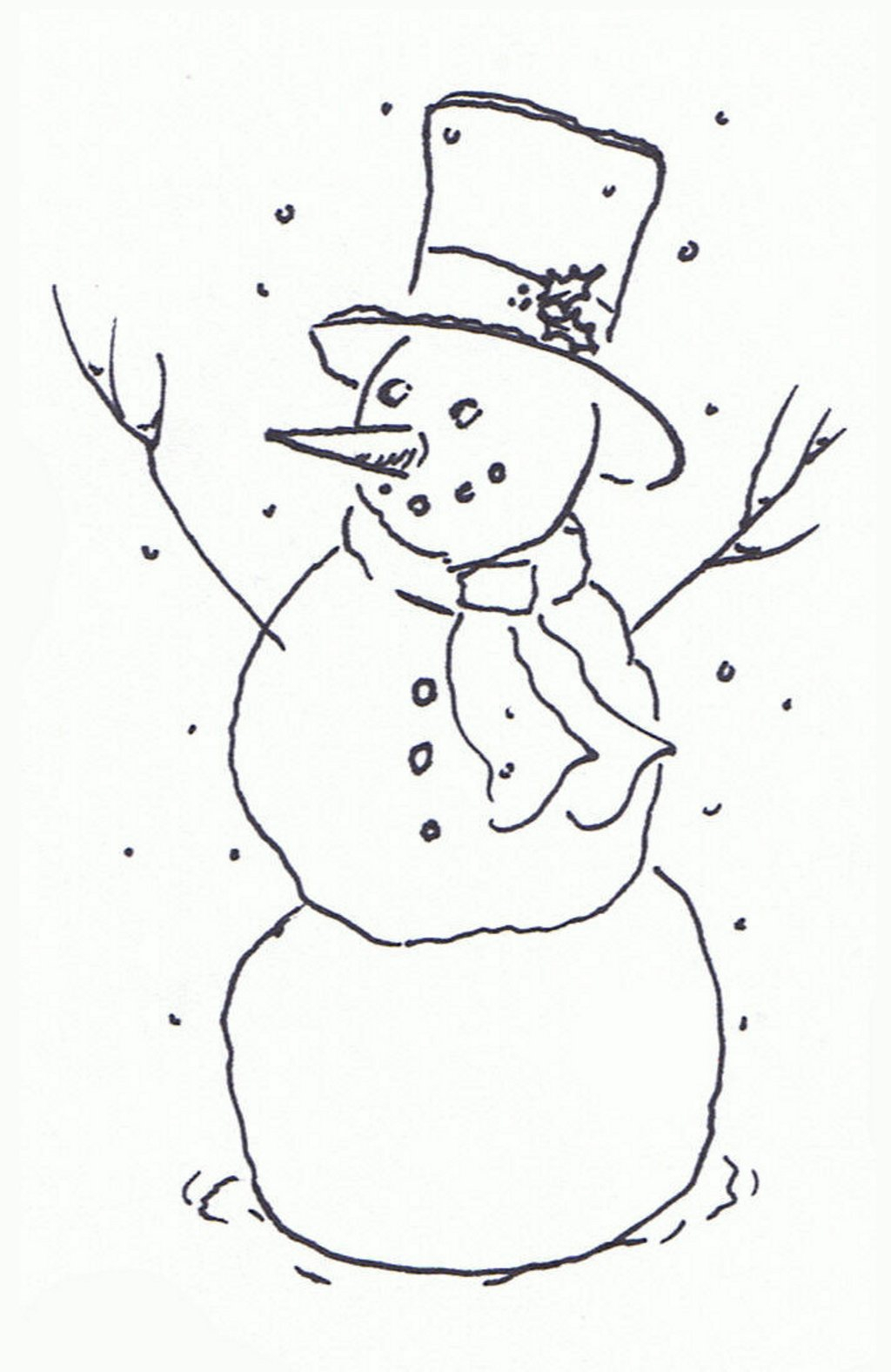 Christmas Clipart Black And White Snowman 20 Free Cliparts