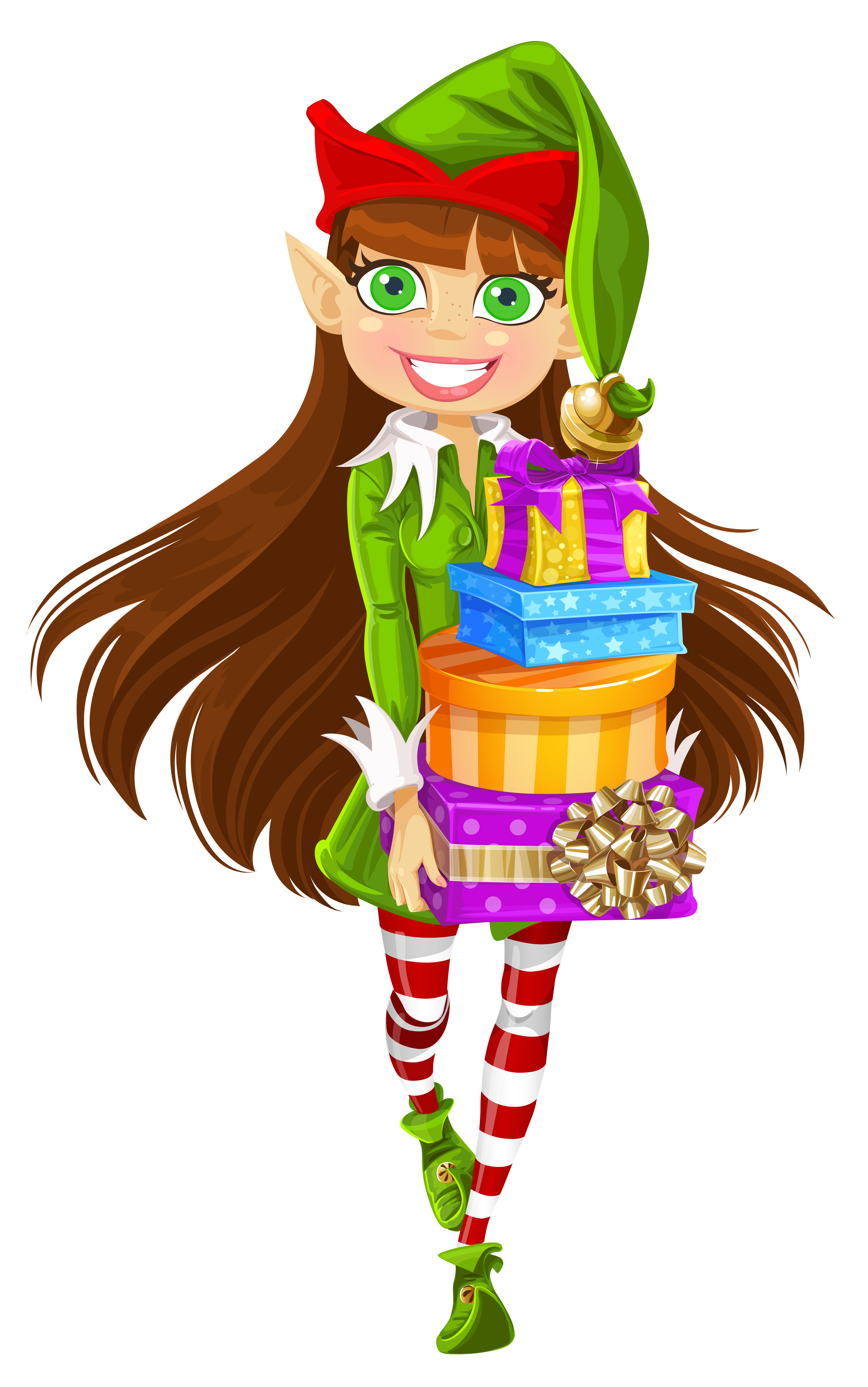 Christmas Elf Clipart Girl 20 Free Cliparts