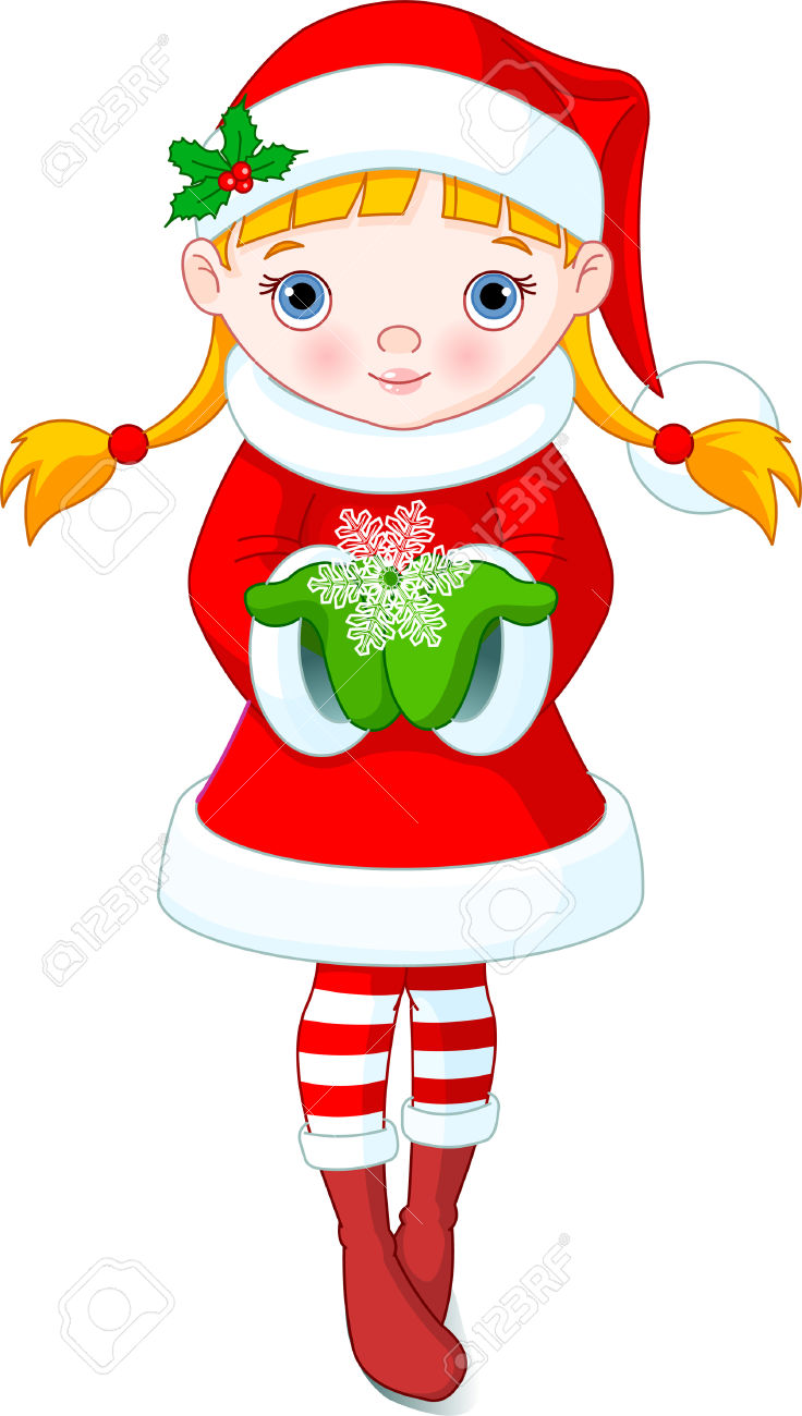 Christmas Female Elves Clipart Clipground